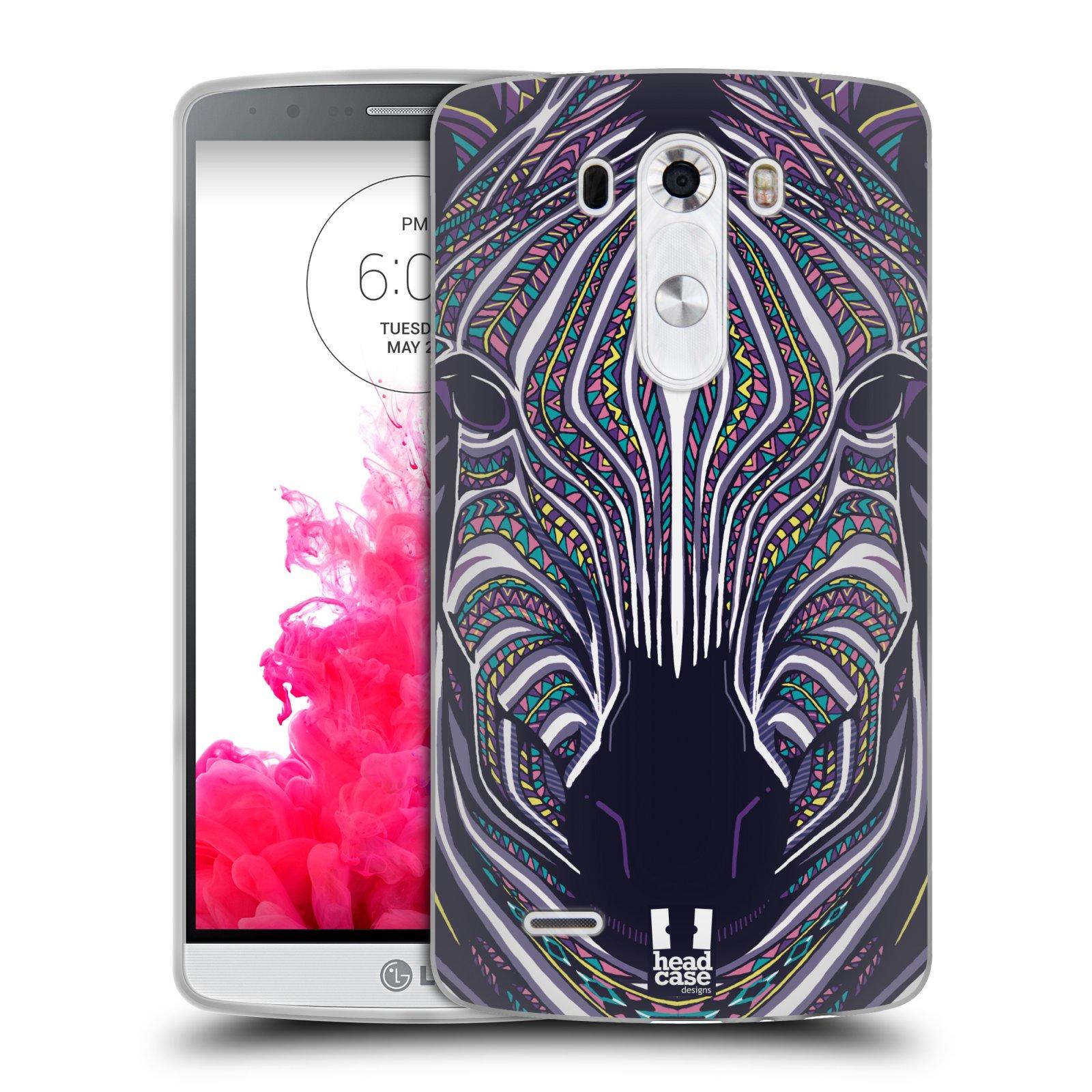 Silikonové pouzdro na mobil LG G3 HEAD CASE AZTEC ZEBRA (Silikonový kryt či obal na mobilní telefon LG G3 D855)