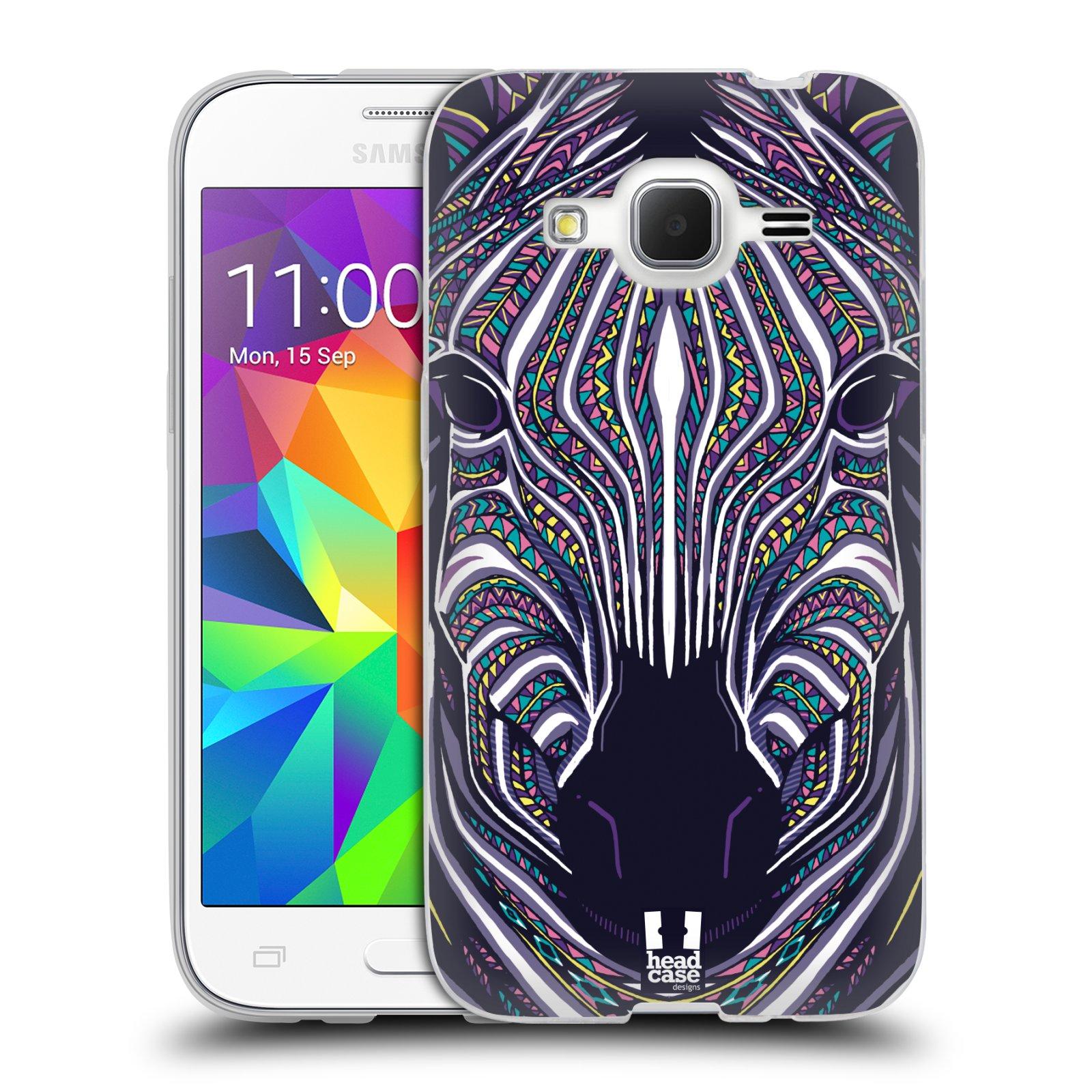 Silikonové pouzdro na mobil Samsung Galaxy Core Prime LTE HEAD CASE AZTEC ZEBRA
