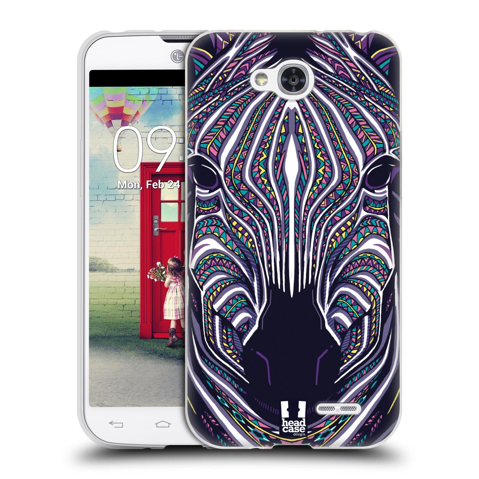 Silikonové pouzdro na mobil LG L90 HEAD CASE AZTEC ZEBRA (Silikonový kryt či obal na mobilní telefon LG L90 D405n)