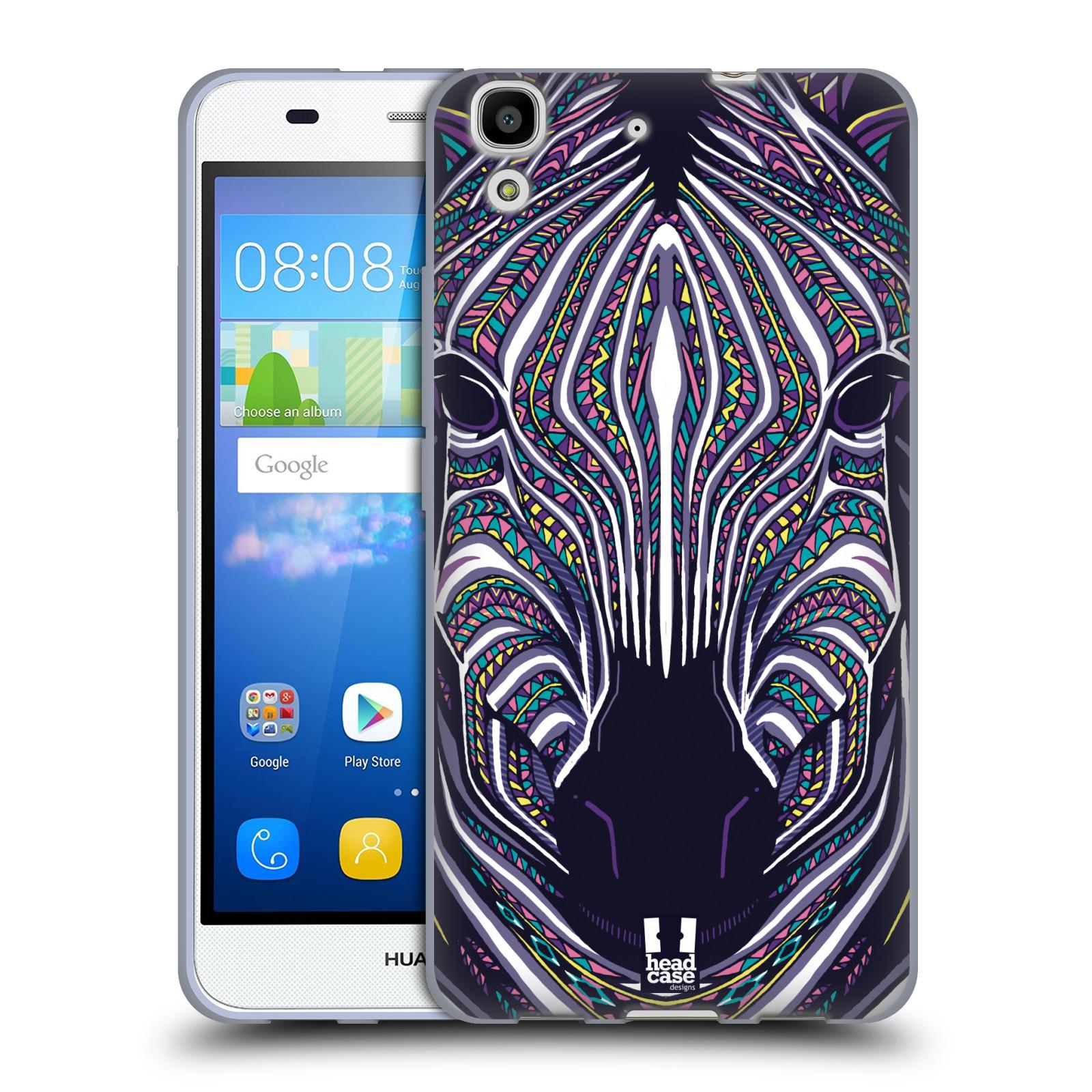 Silikonové pouzdro na mobil Huawei Y6 HEAD CASE AZTEC ZEBRA