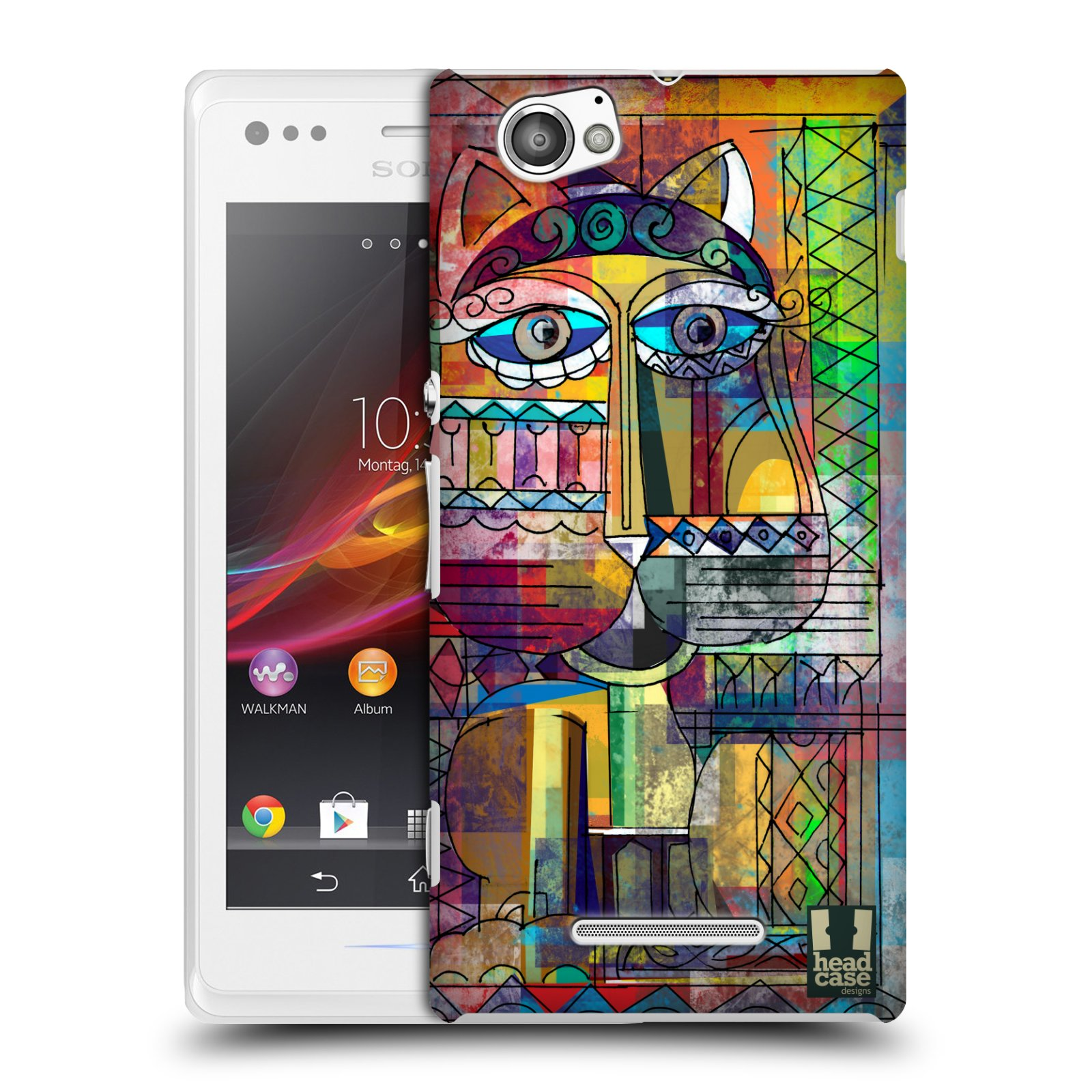 Plastové pouzdro na mobil Sony Xperia M C1905 HEAD CASE AZTEC KORAT