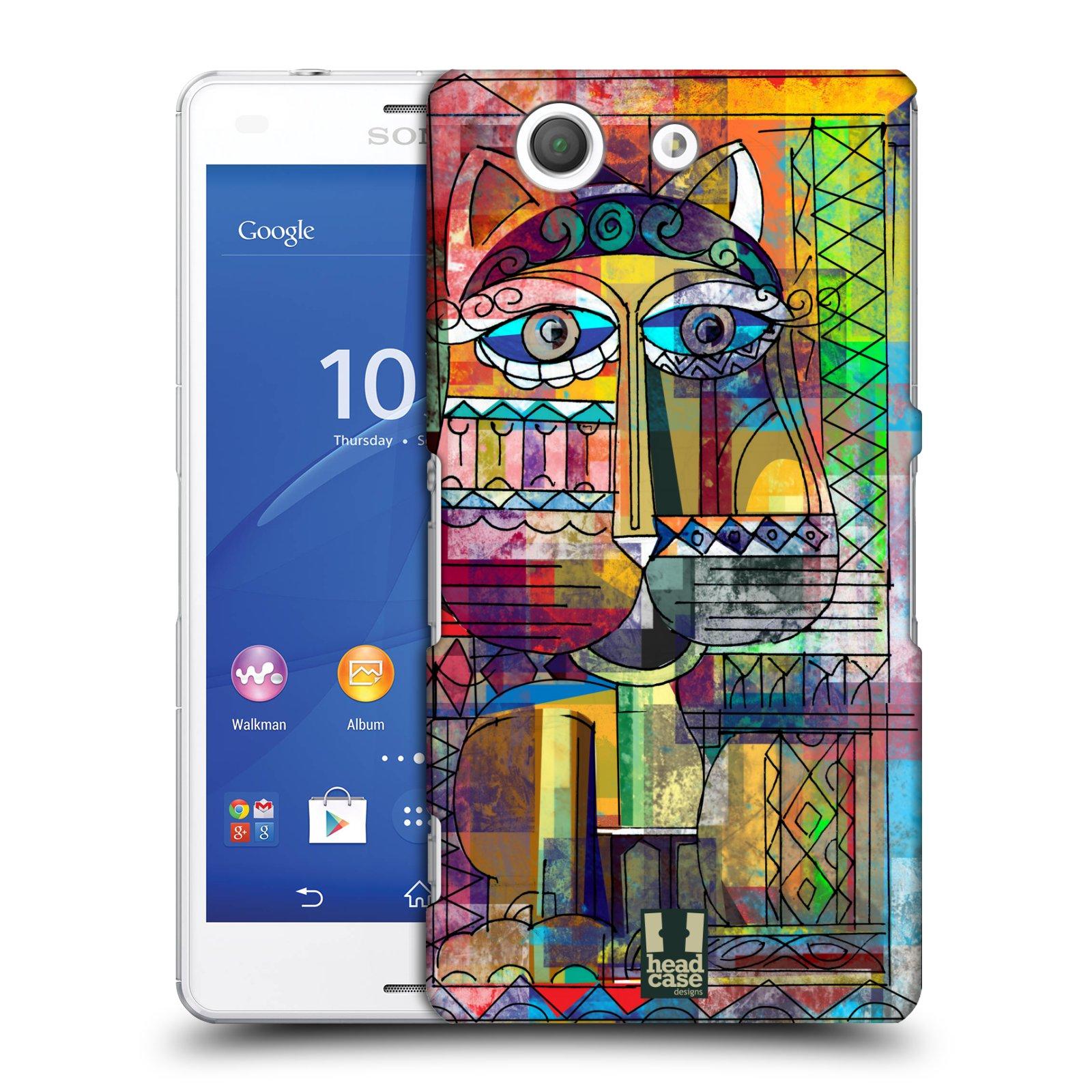Plastové pouzdro na mobil Sony Xperia Z3 Compact D5803 HEAD CASE AZTEC KORAT