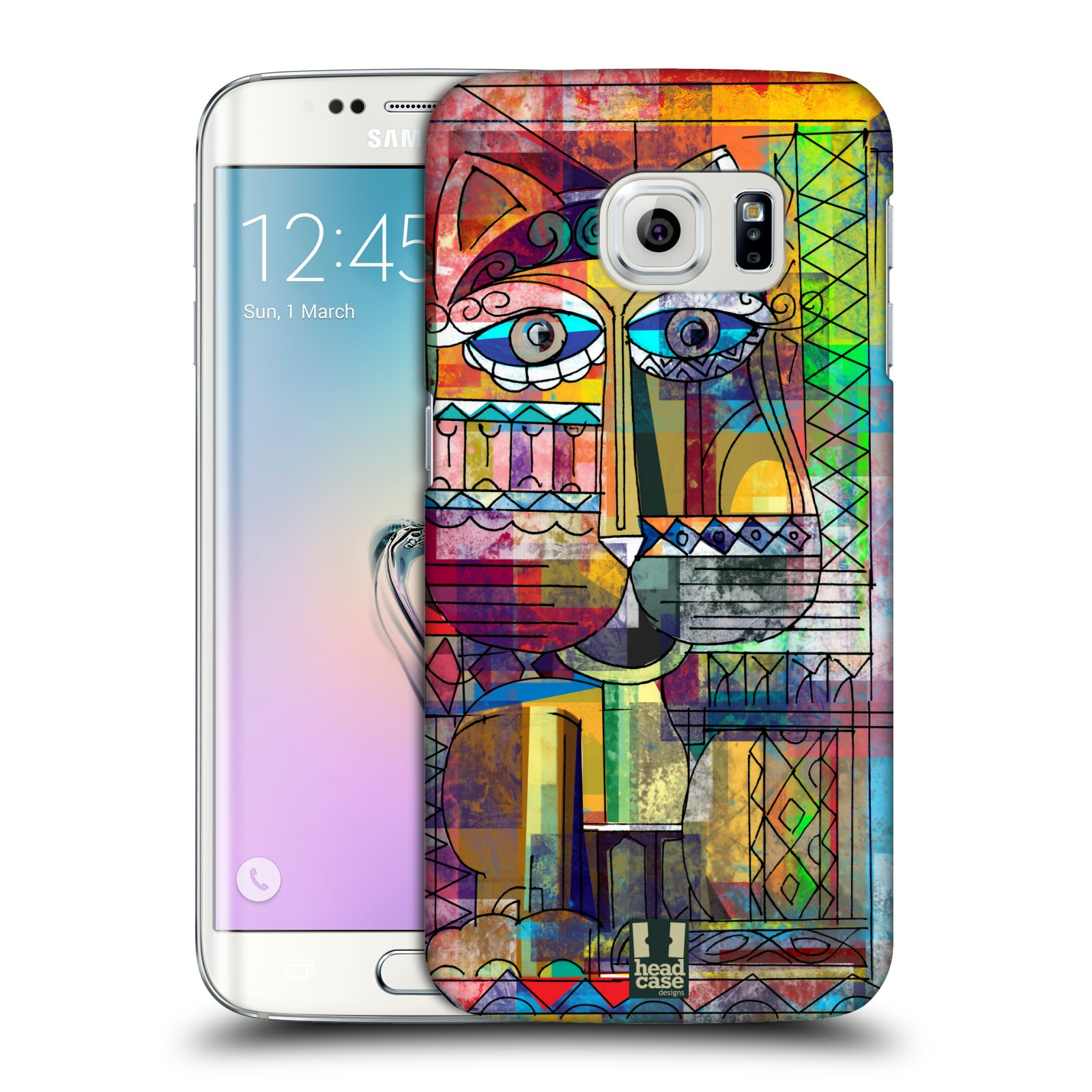 Plastové pouzdro na mobil Samsung Galaxy S6 Edge HEAD CASE AZTEC KORAT