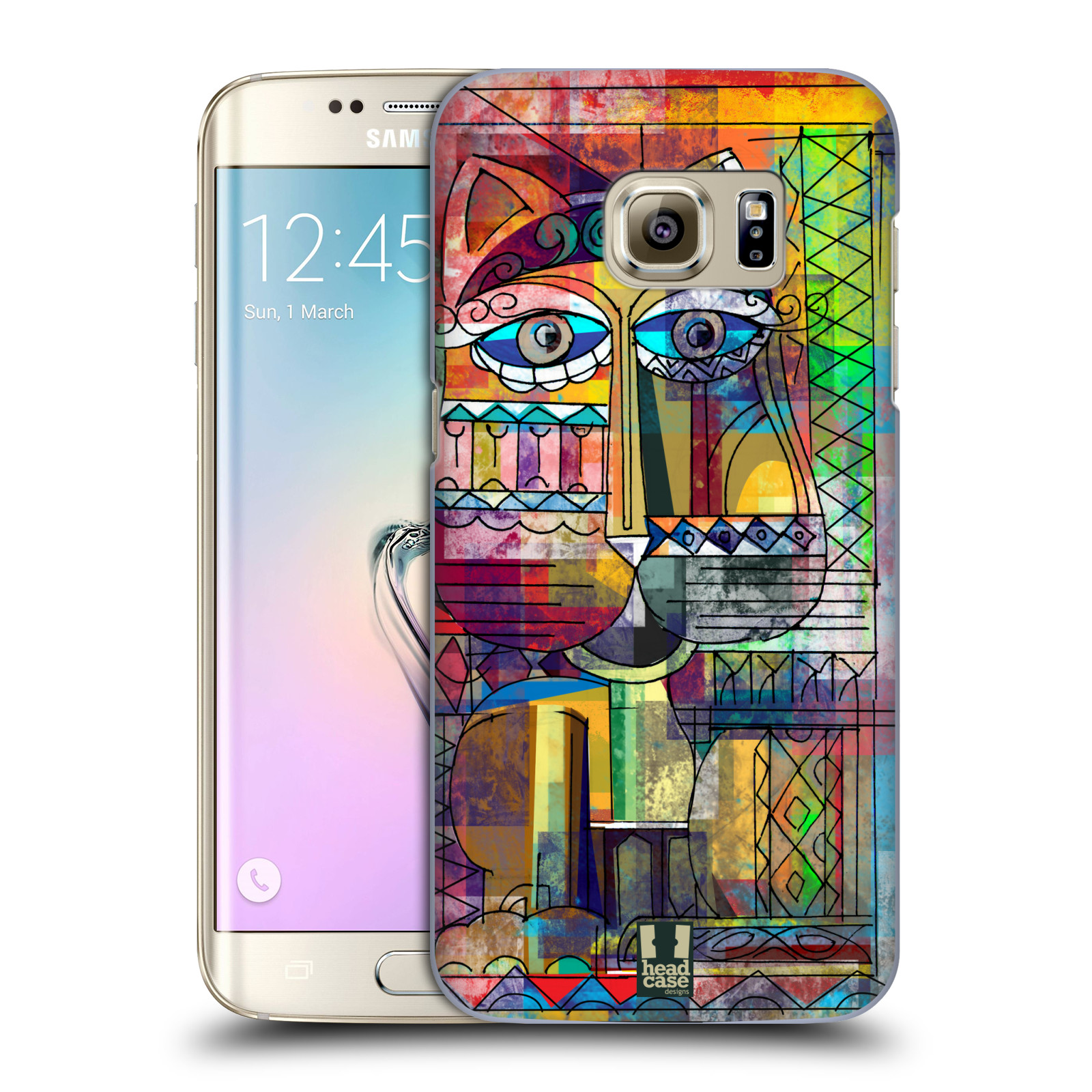 Plastové pouzdro na mobil Samsung Galaxy S7 Edge HEAD CASE AZTEC KORAT