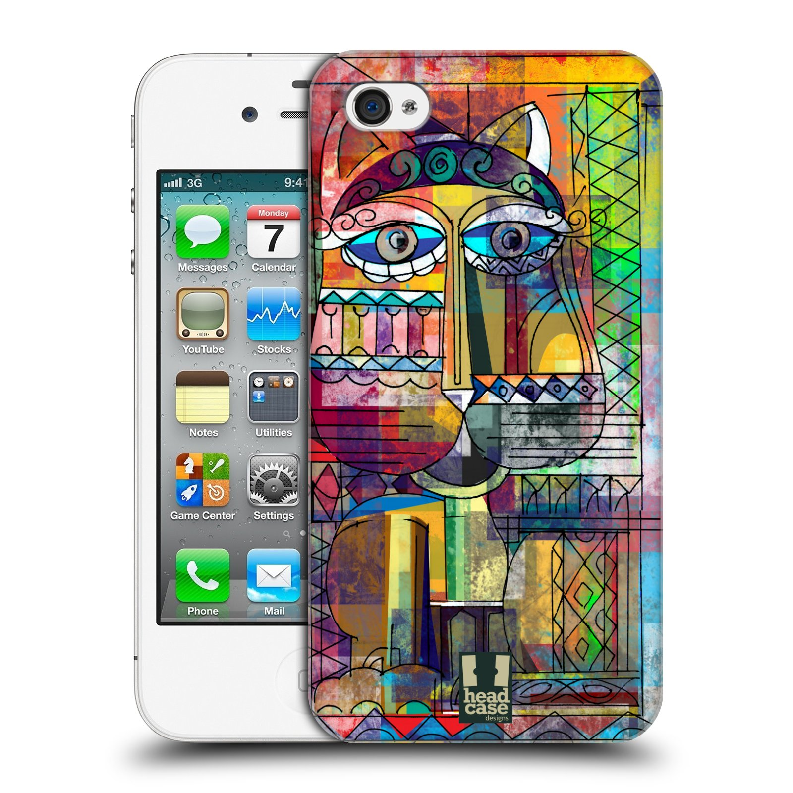 Plastové pouzdro na mobil Apple iPhone 4 a 4S HEAD CASE AZTEC KORAT