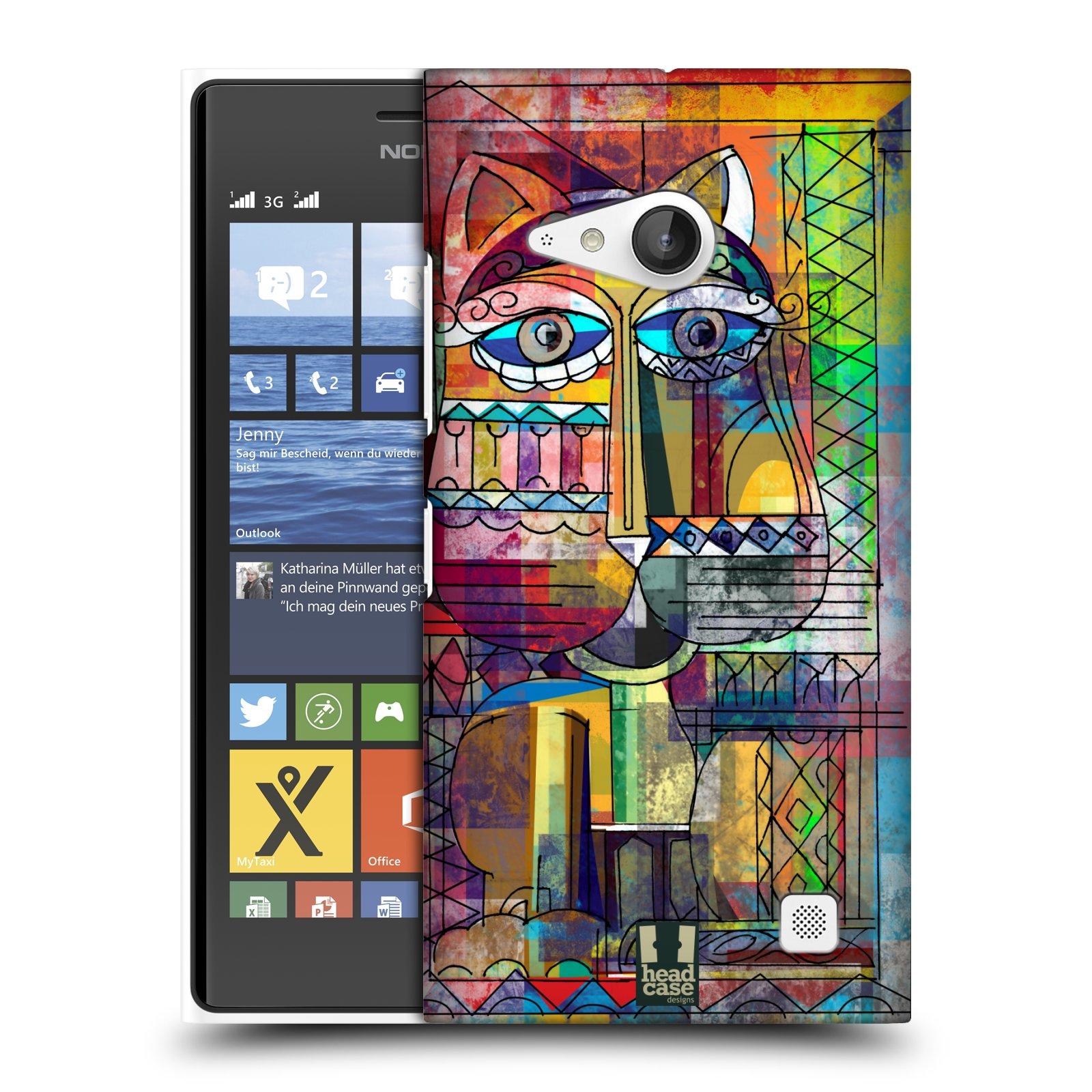Plastové pouzdro na mobil Nokia Lumia 735 HEAD CASE AZTEC KORAT