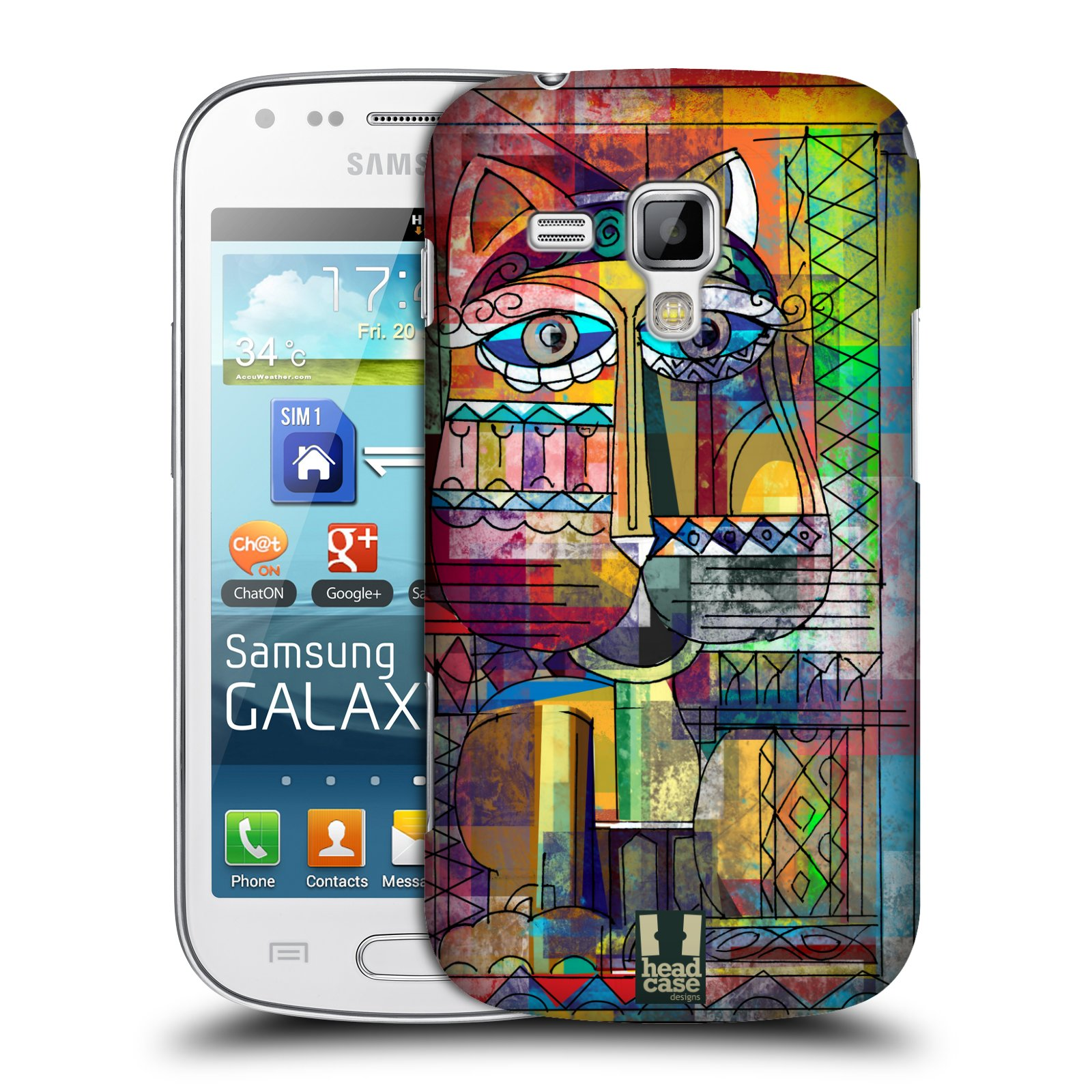 Plastové pouzdro na mobil Samsung Galaxy S Duos 2 HEAD CASE AZTEC KORAT