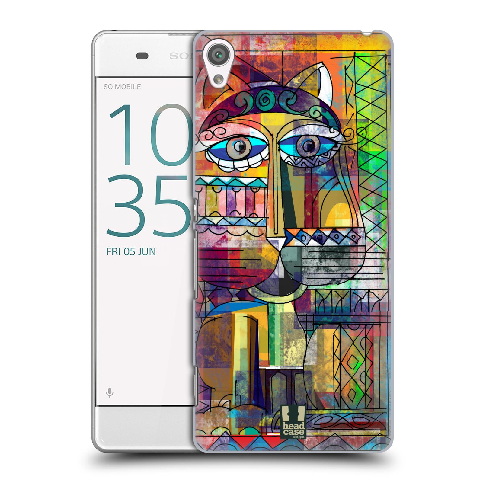 Plastové pouzdro na mobil Sony Xperia XA HEAD CASE AZTEC KORAT