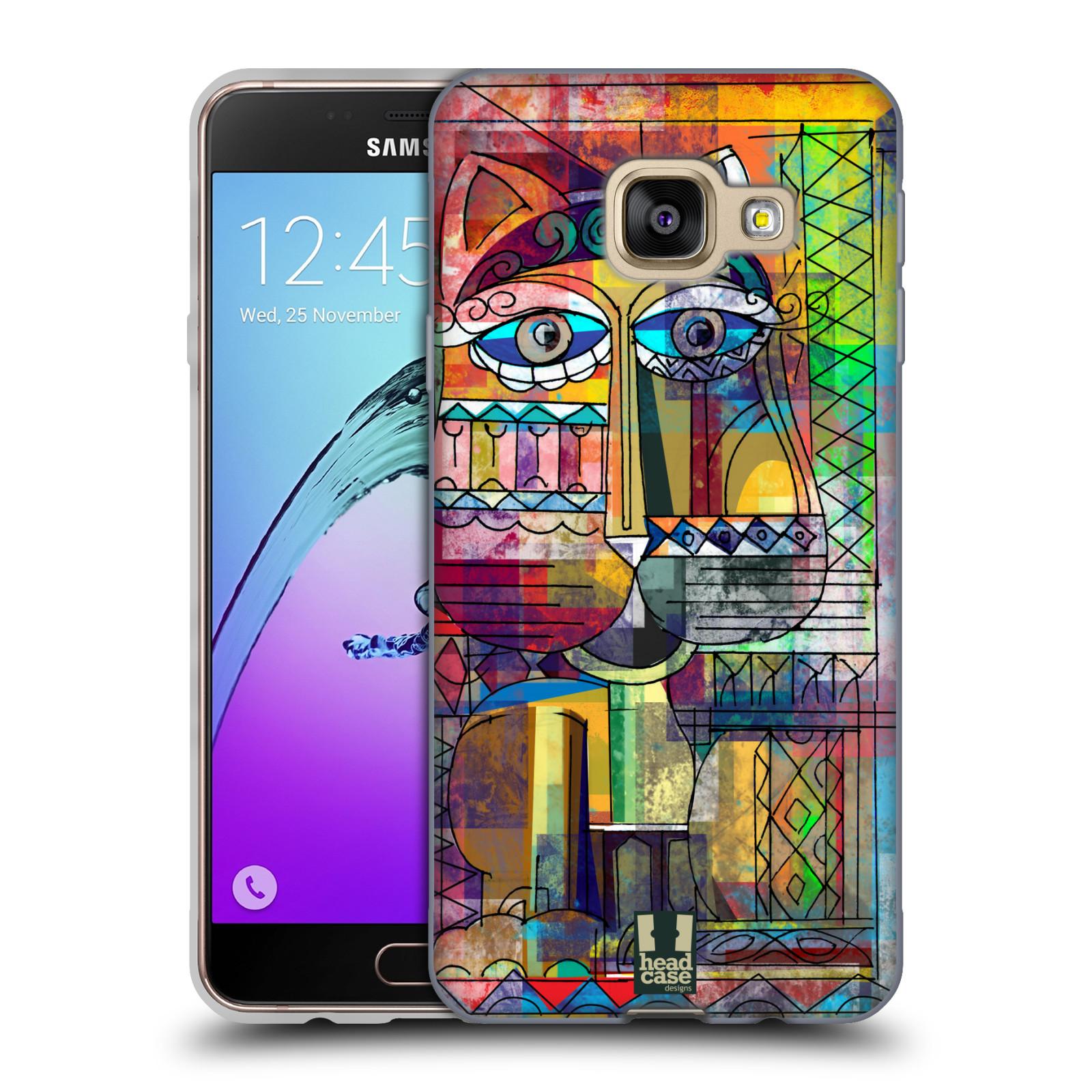 Silikonové pouzdro na mobil Samsung Galaxy A3 (2016) HEAD CASE AZTEC KORAT