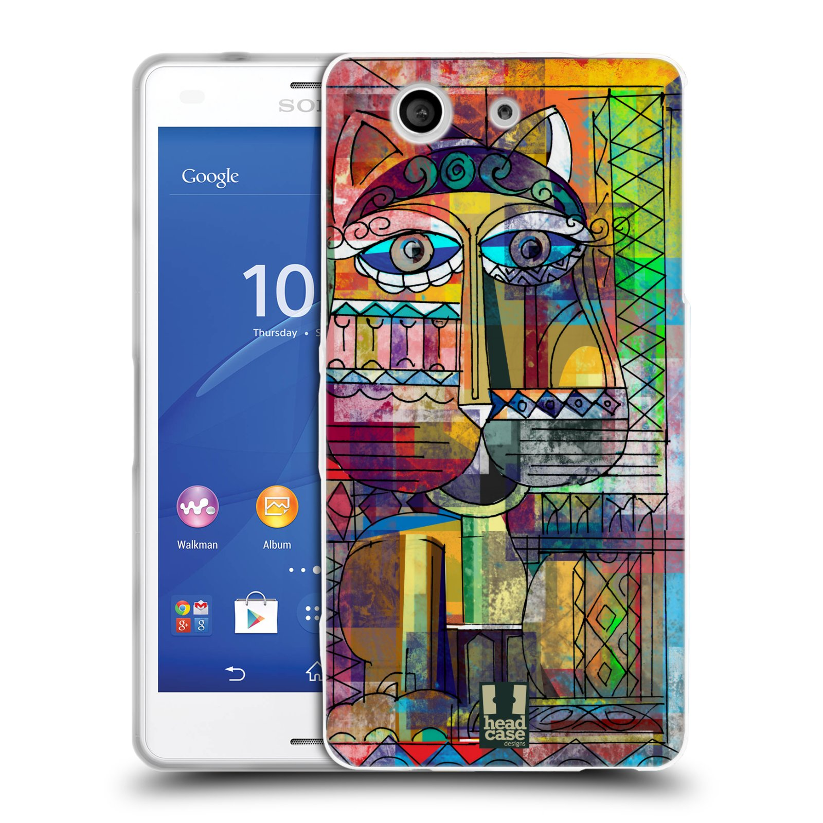Silikonové pouzdro na mobil Sony Xperia Z3 Compact D5803 HEAD CASE AZTEC KORAT