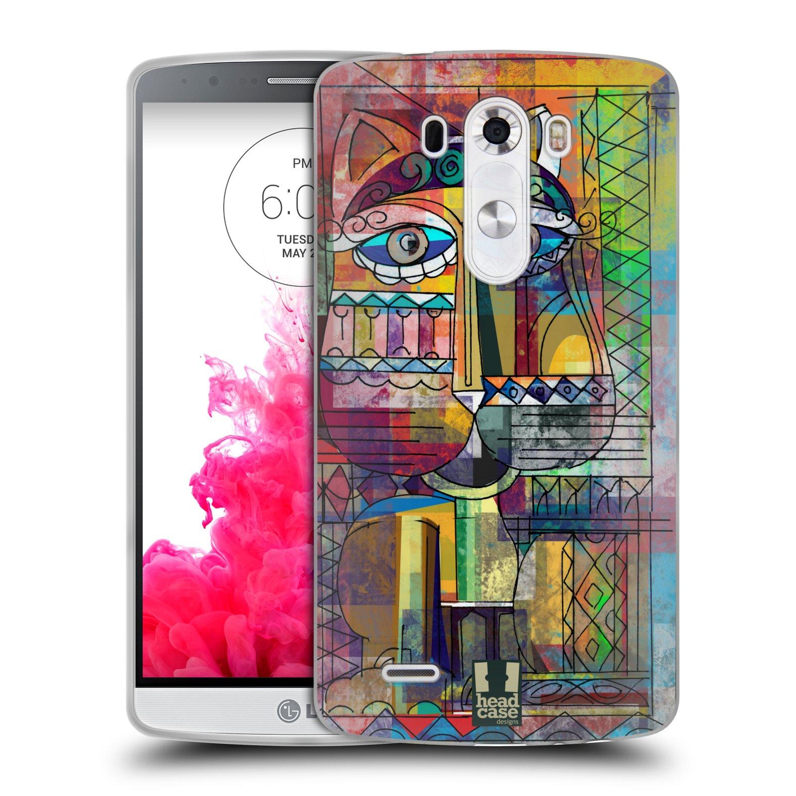 Silikonové pouzdro na mobil LG G3 HEAD CASE AZTEC KORAT (Silikonový kryt či obal na mobilní telefon LG G3 D855)