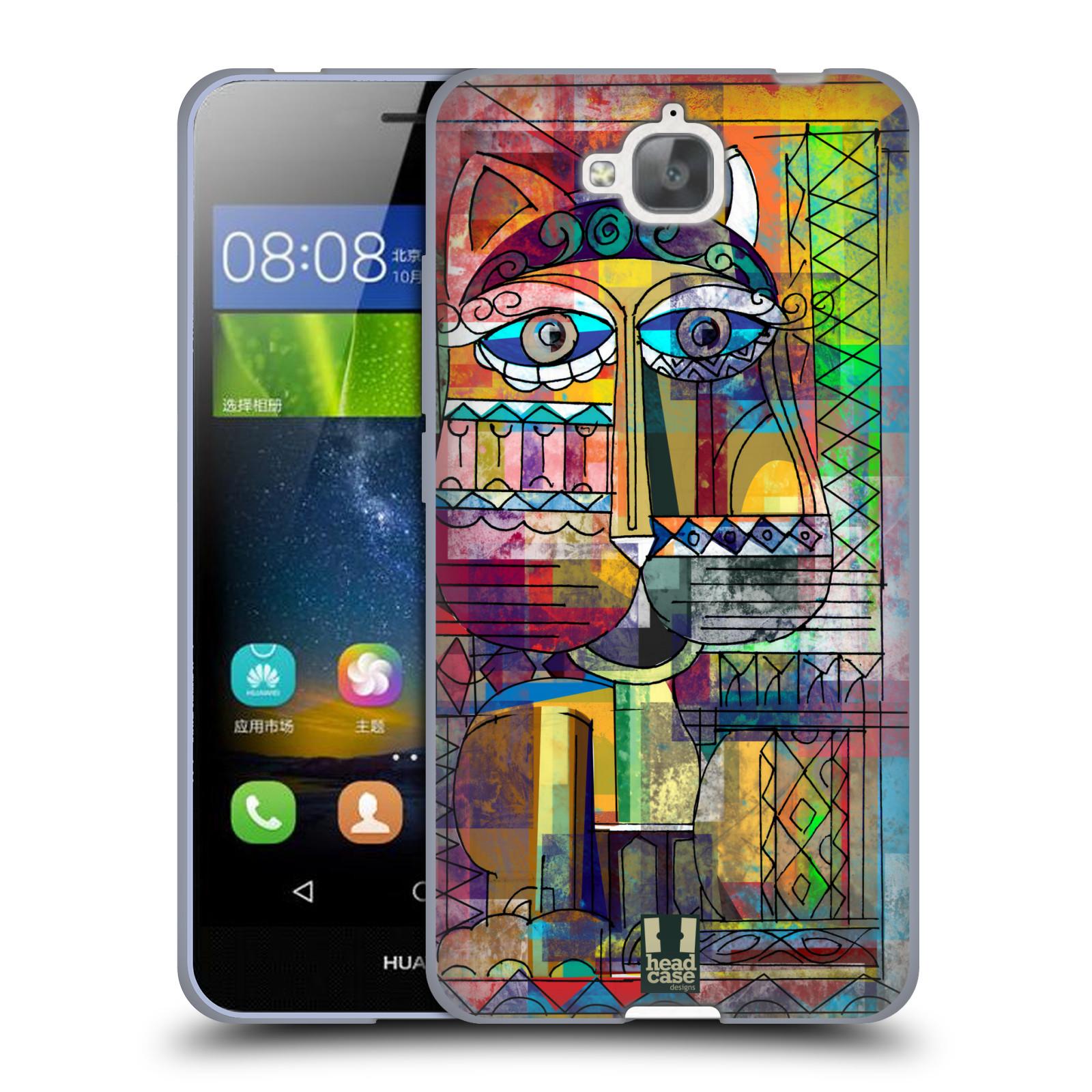 Silikonové pouzdro na mobil Huawei Y6 Pro Dual Sim HEAD CASE AZTEC KORAT