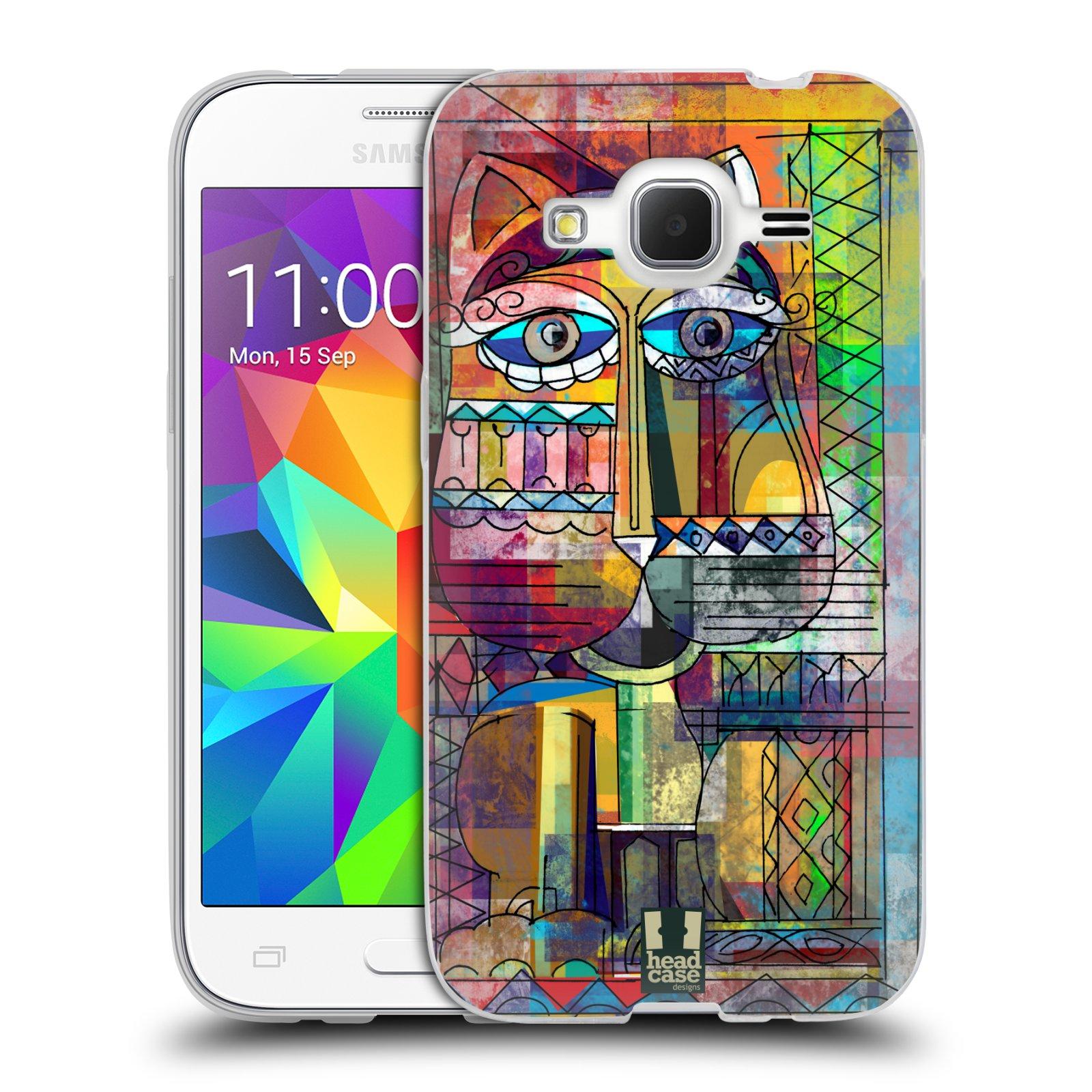 Silikonové pouzdro na mobil Samsung Galaxy Core Prime LTE HEAD CASE AZTEC KORAT