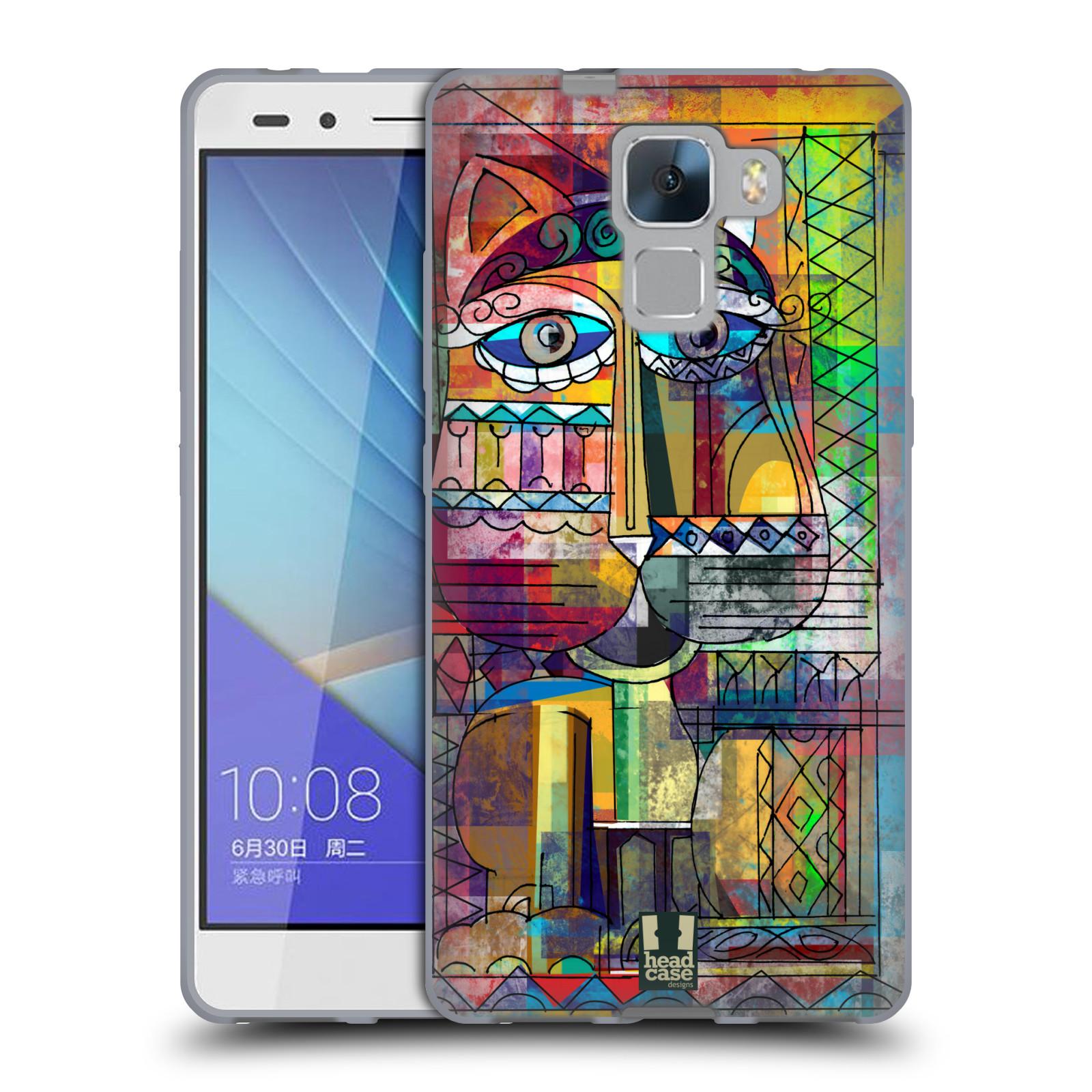 Silikonové pouzdro na mobil Honor 7 HEAD CASE AZTEC KORAT