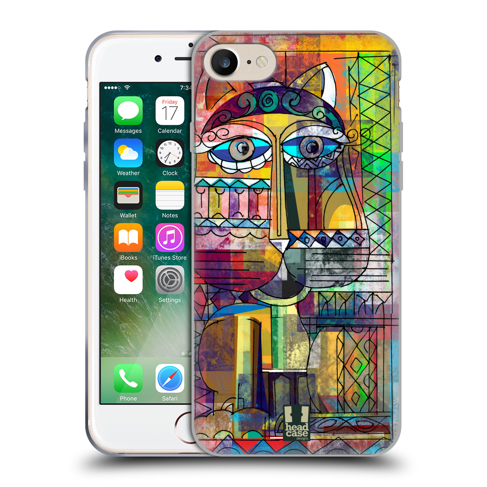 Silikonové pouzdro na mobil Apple iPhone 8 - Head Case - AZTEC KORAT