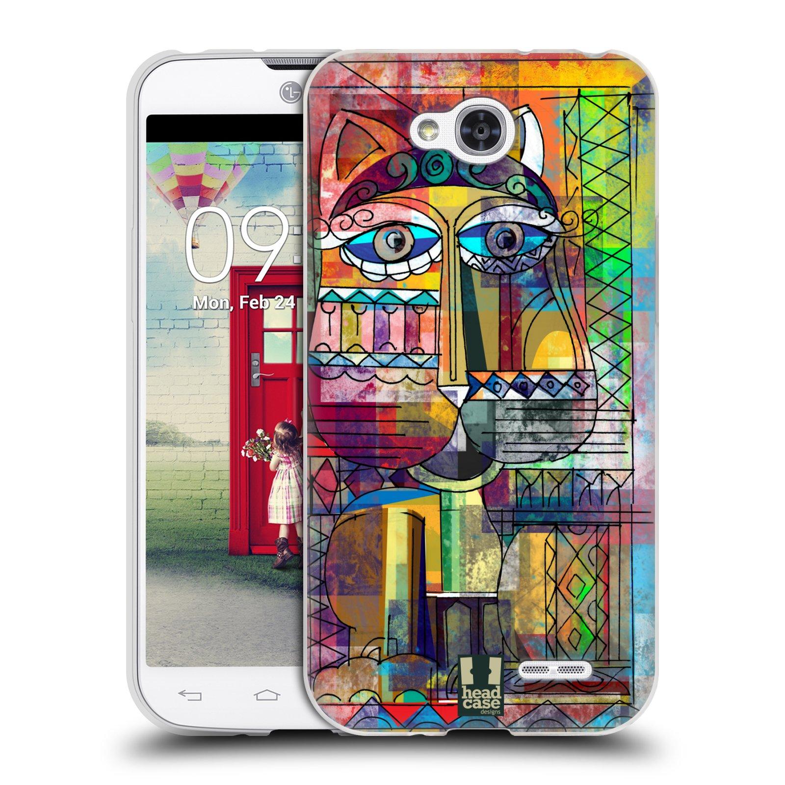 Silikonové pouzdro na mobil LG L90 HEAD CASE AZTEC KORAT (Silikonový kryt či obal na mobilní telefon LG L90 D405n)