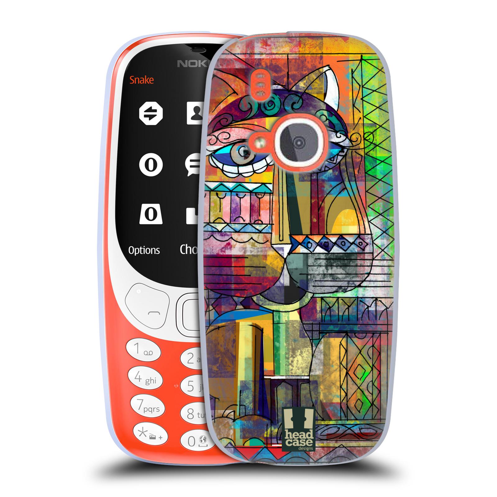 Silikonové pouzdro na mobil Nokia 3310 - Head Case - AZTEC KORAT
