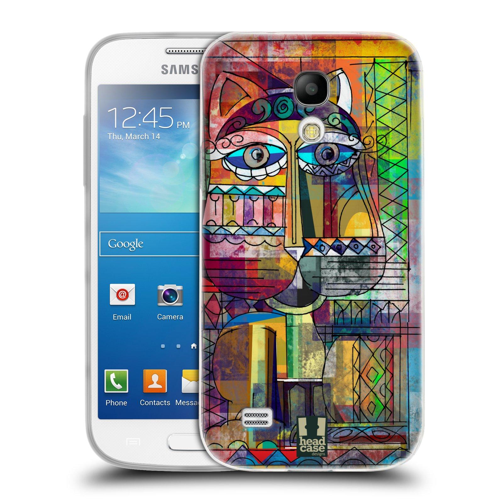 Silikonové pouzdro na mobil Samsung Galaxy S4 Mini HEAD CASE AZTEC KORAT