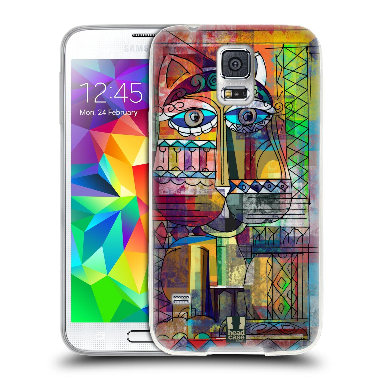 Silikonové pouzdro na mobil Samsung Galaxy S5 HEAD CASE AZTEC KORAT