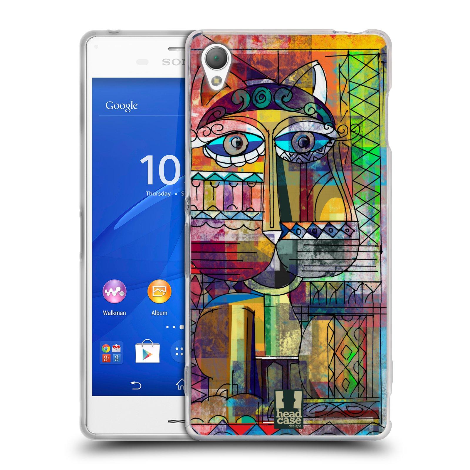 Silikonové pouzdro na mobil Sony Xperia Z3 D6603 HEAD CASE AZTEC KORAT