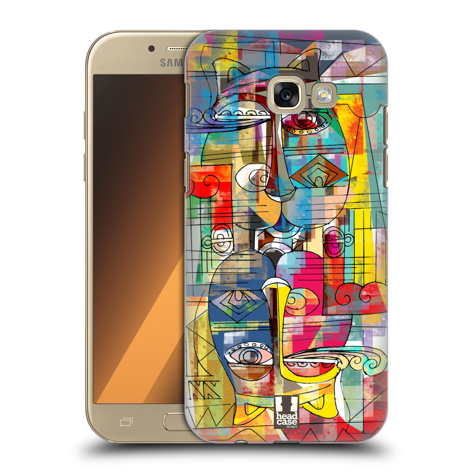 Plastové pouzdro na mobil Samsung Galaxy A5 (2017) HEAD CASE AZTEC MANX