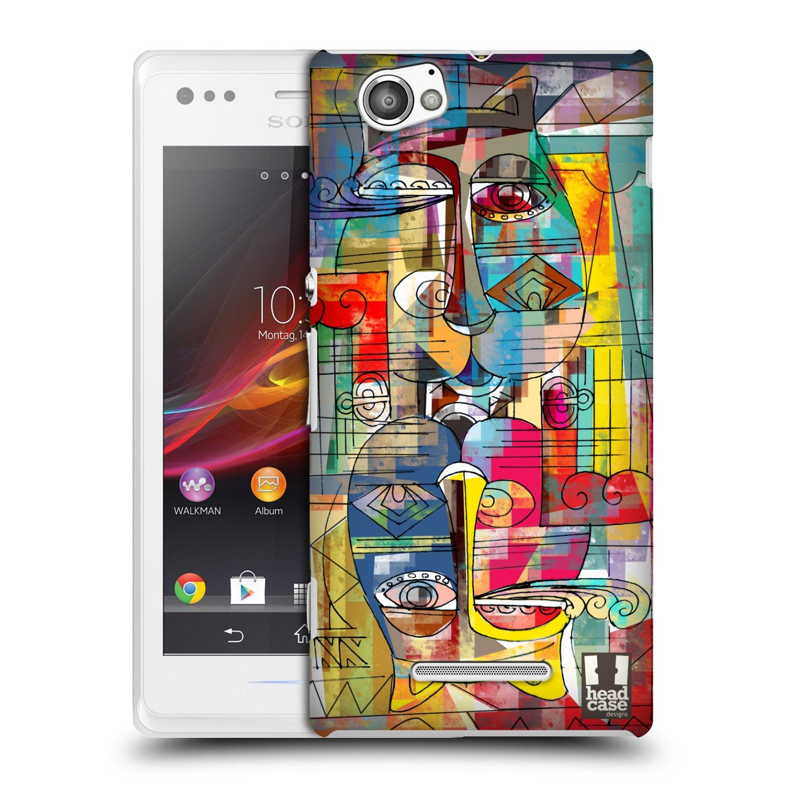 Plastové pouzdro na mobil Sony Xperia M C1905 HEAD CASE AZTEC MANX