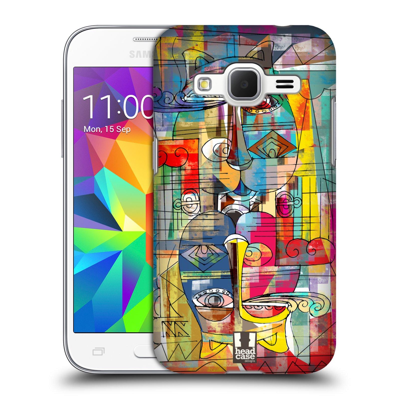 Plastové pouzdro na mobil Samsung Galaxy Core Prime LTE HEAD CASE AZTEC MANX