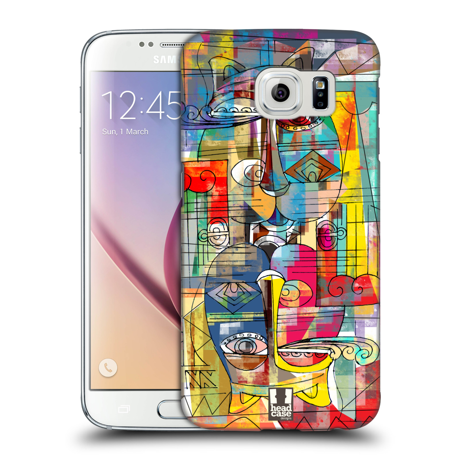 Plastové pouzdro na mobil Samsung Galaxy S6 HEAD CASE AZTEC MANX