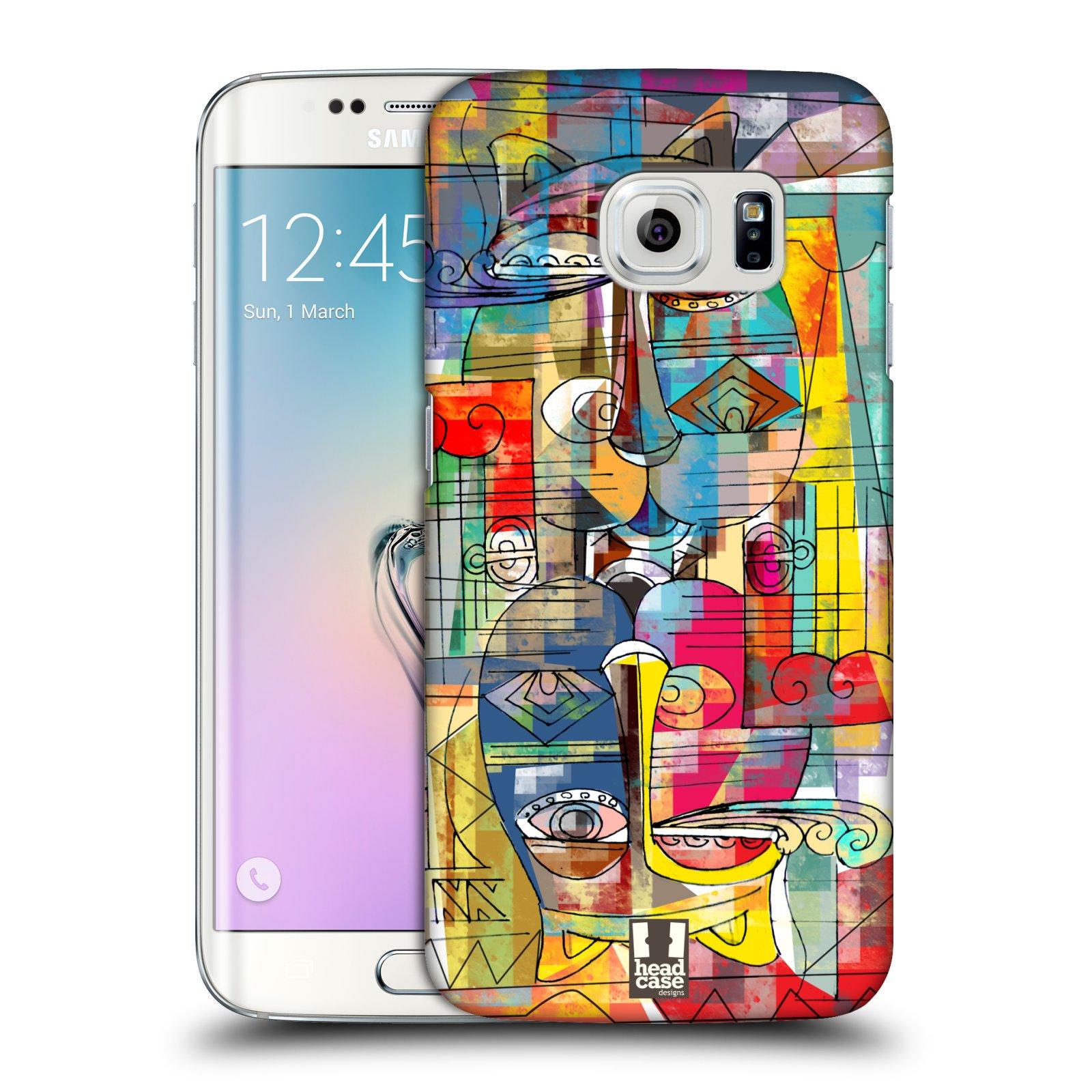 Plastové pouzdro na mobil Samsung Galaxy S6 Edge HEAD CASE AZTEC MANX