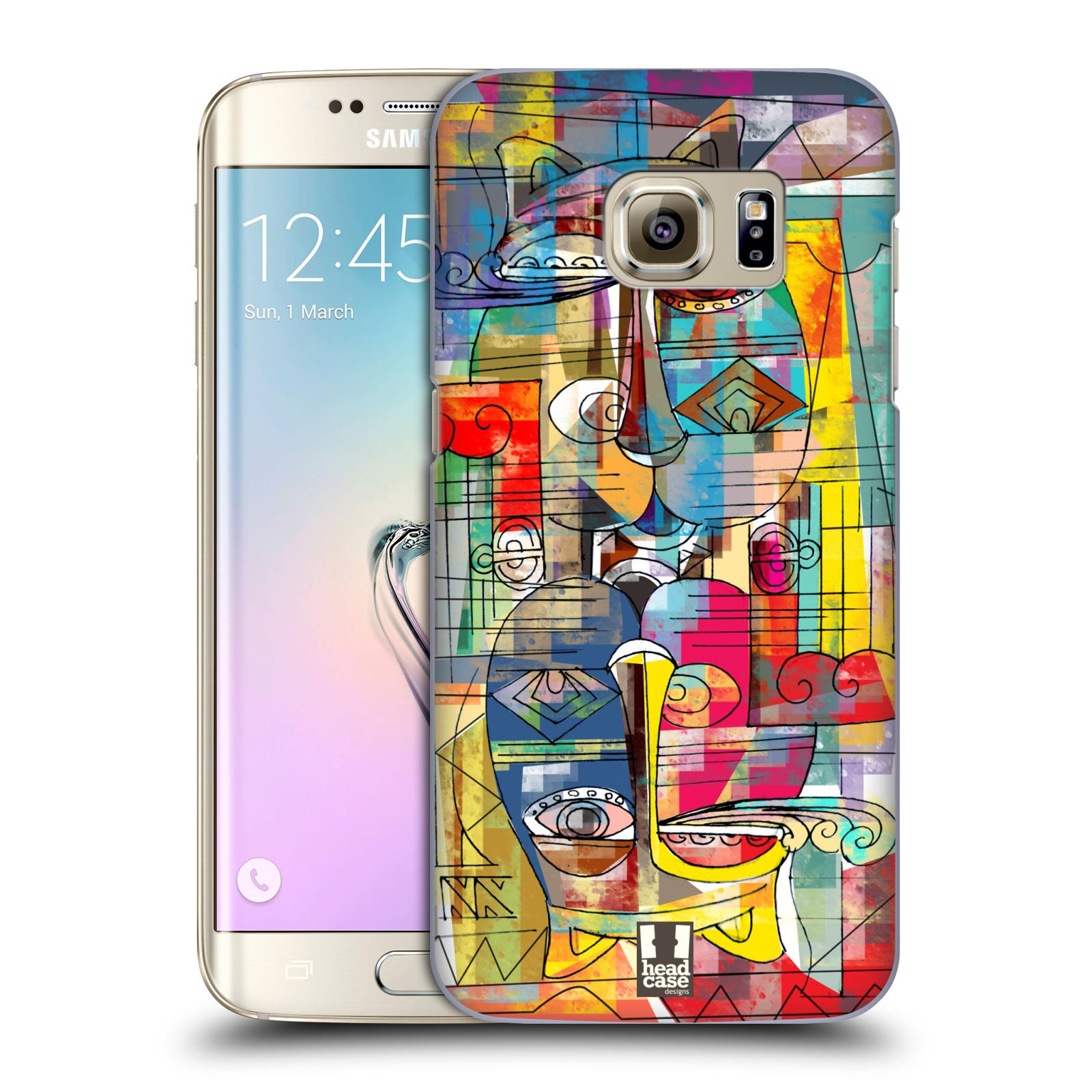 Plastové pouzdro na mobil Samsung Galaxy S7 Edge HEAD CASE AZTEC MANX