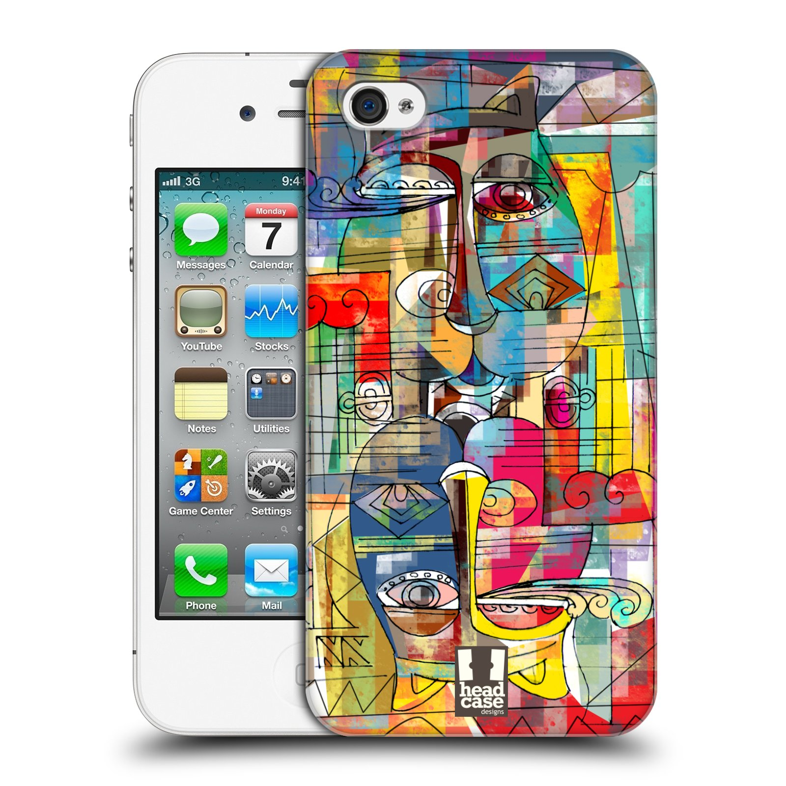 Plastové pouzdro na mobil Apple iPhone 4 a 4S HEAD CASE AZTEC MANX