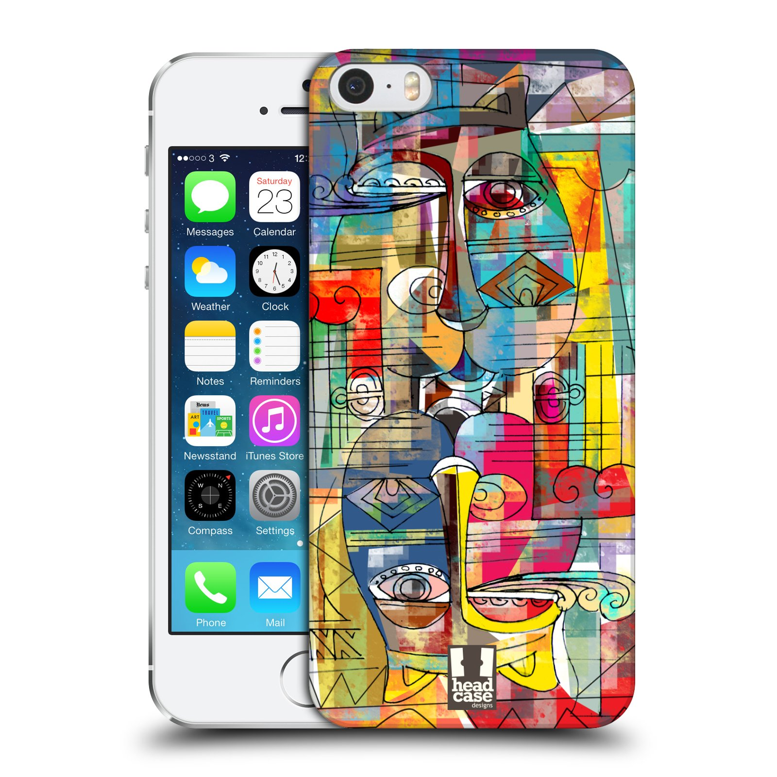 Plastové pouzdro na mobil Apple iPhone SE, 5 a 5S HEAD CASE AZTEC MANX