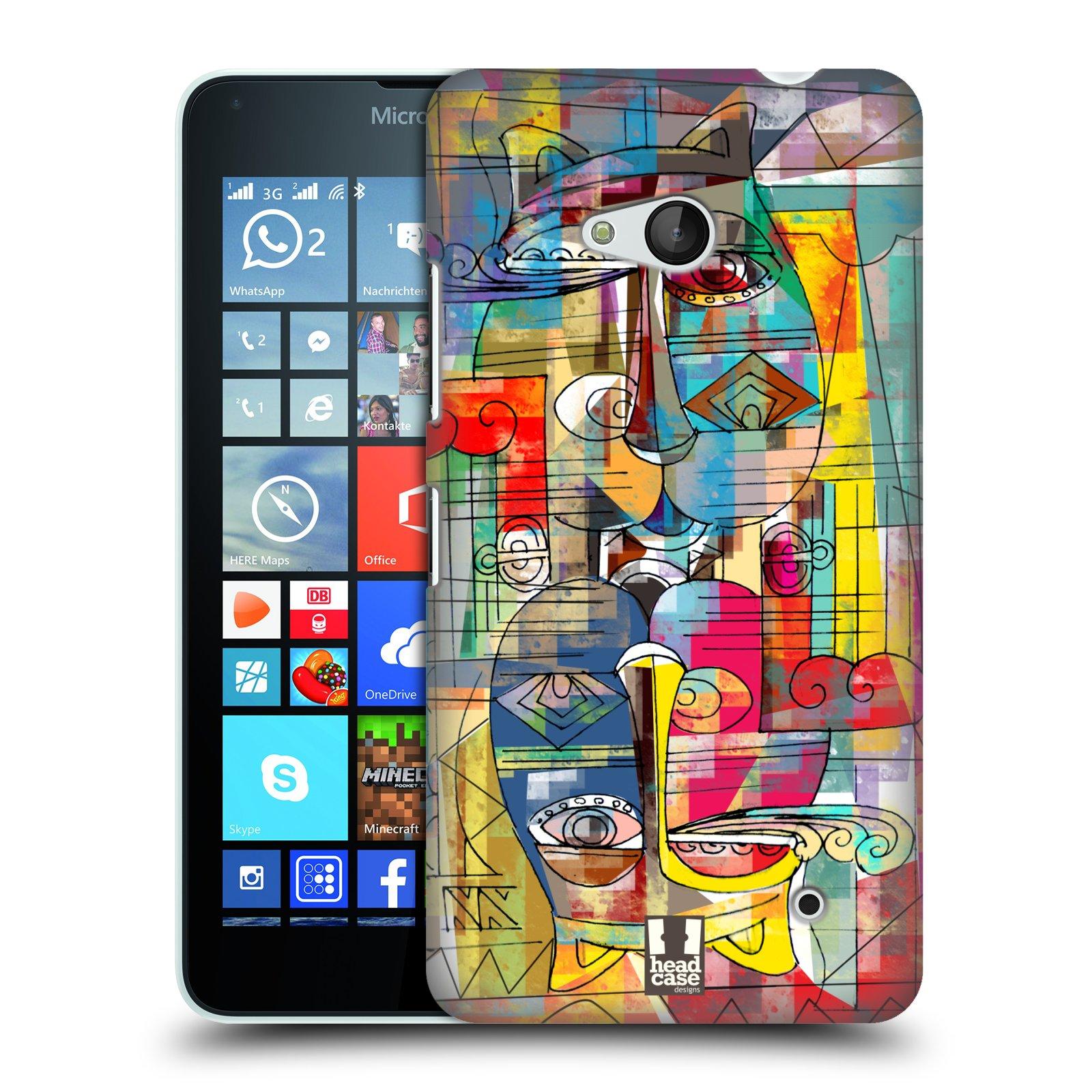 Plastové pouzdro na mobil Microsoft Lumia 640 HEAD CASE AZTEC MANX