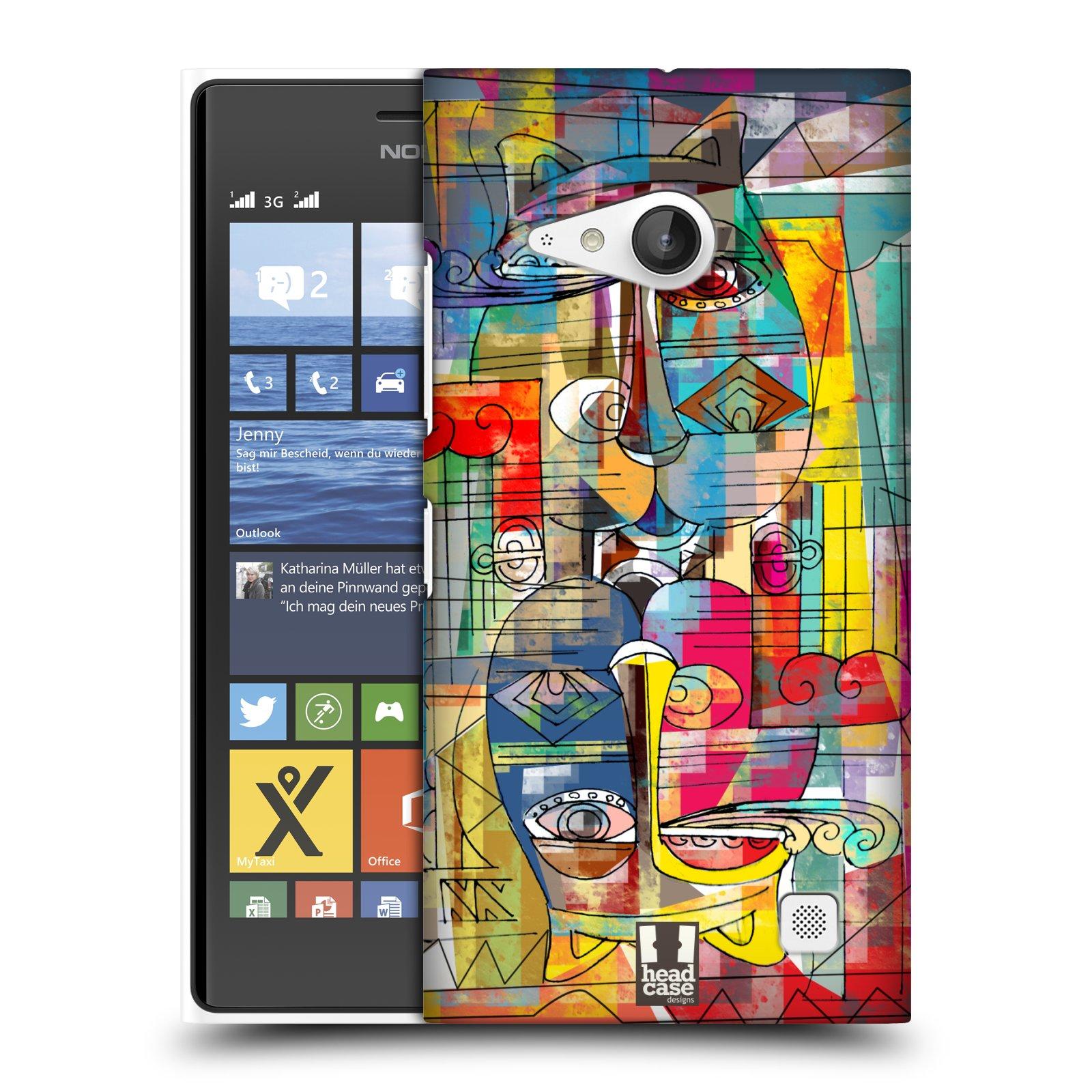 Plastové pouzdro na mobil Nokia Lumia 735 HEAD CASE AZTEC MANX