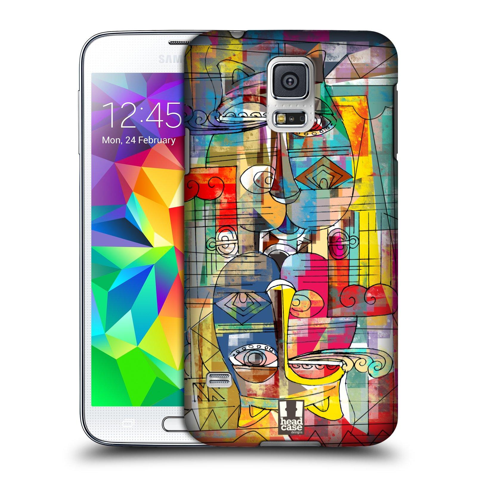 Plastové pouzdro na mobil Samsung Galaxy S5 HEAD CASE AZTEC MANX