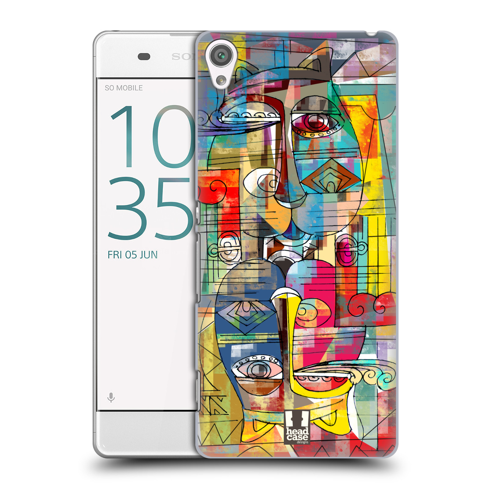 Plastové pouzdro na mobil Sony Xperia XA HEAD CASE AZTEC MANX