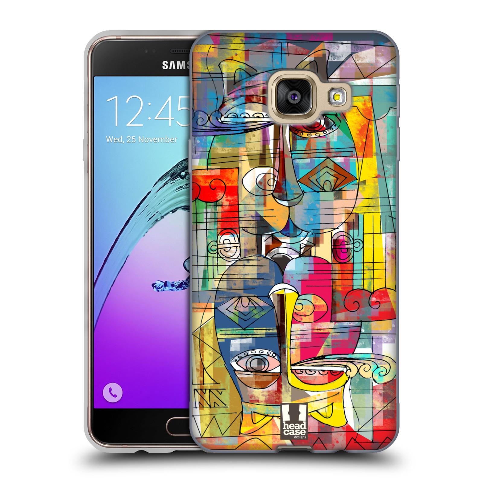 Silikonové pouzdro na mobil Samsung Galaxy A3 (2016) HEAD CASE AZTEC MANX