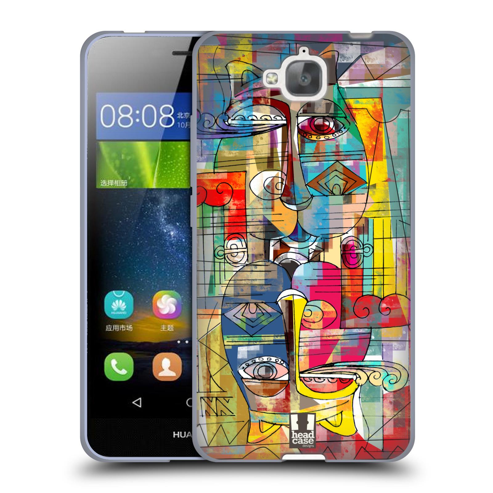 Silikonové pouzdro na mobil Huawei Y6 Pro Dual Sim HEAD CASE AZTEC MANX