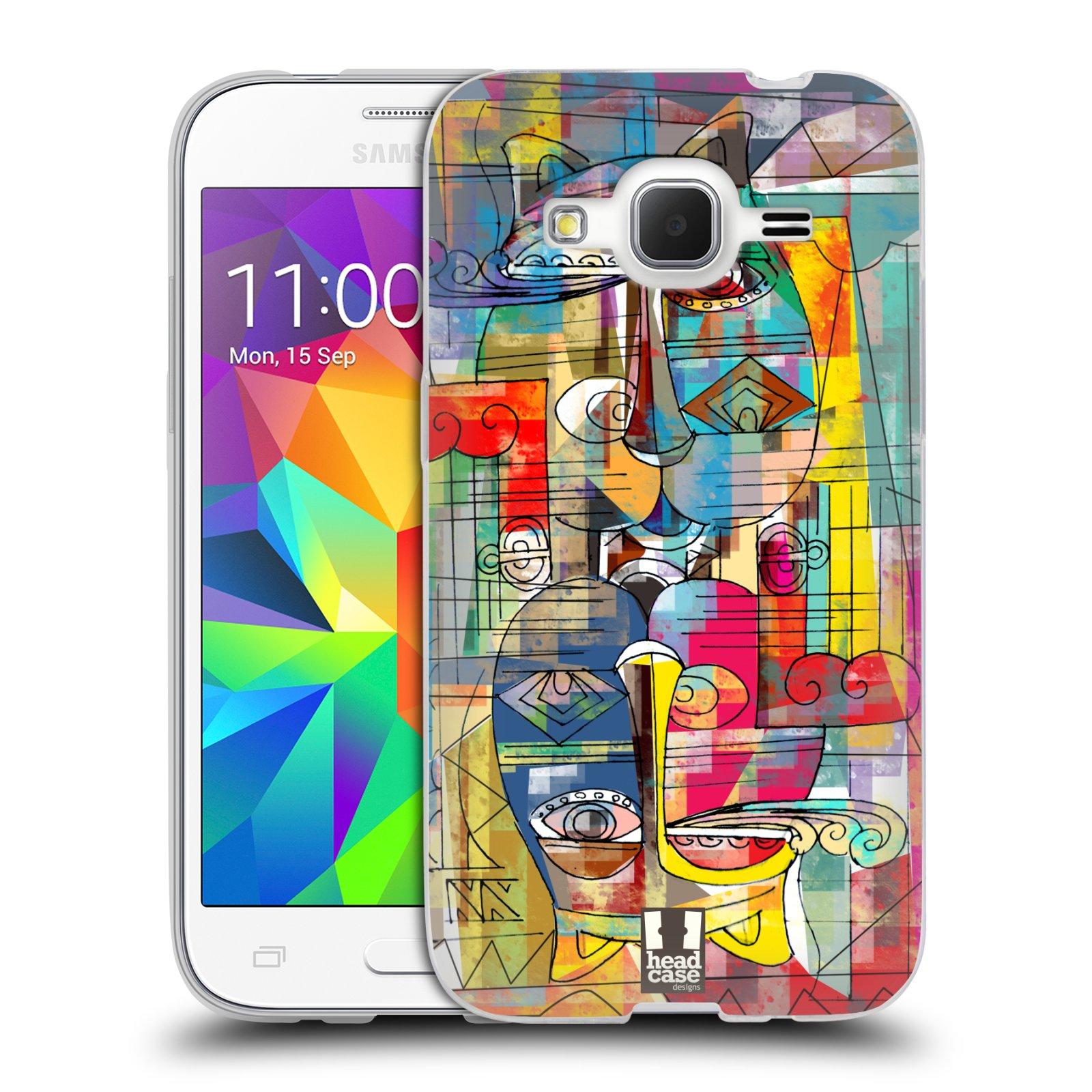 Silikonové pouzdro na mobil Samsung Galaxy Core Prime LTE HEAD CASE AZTEC MANX
