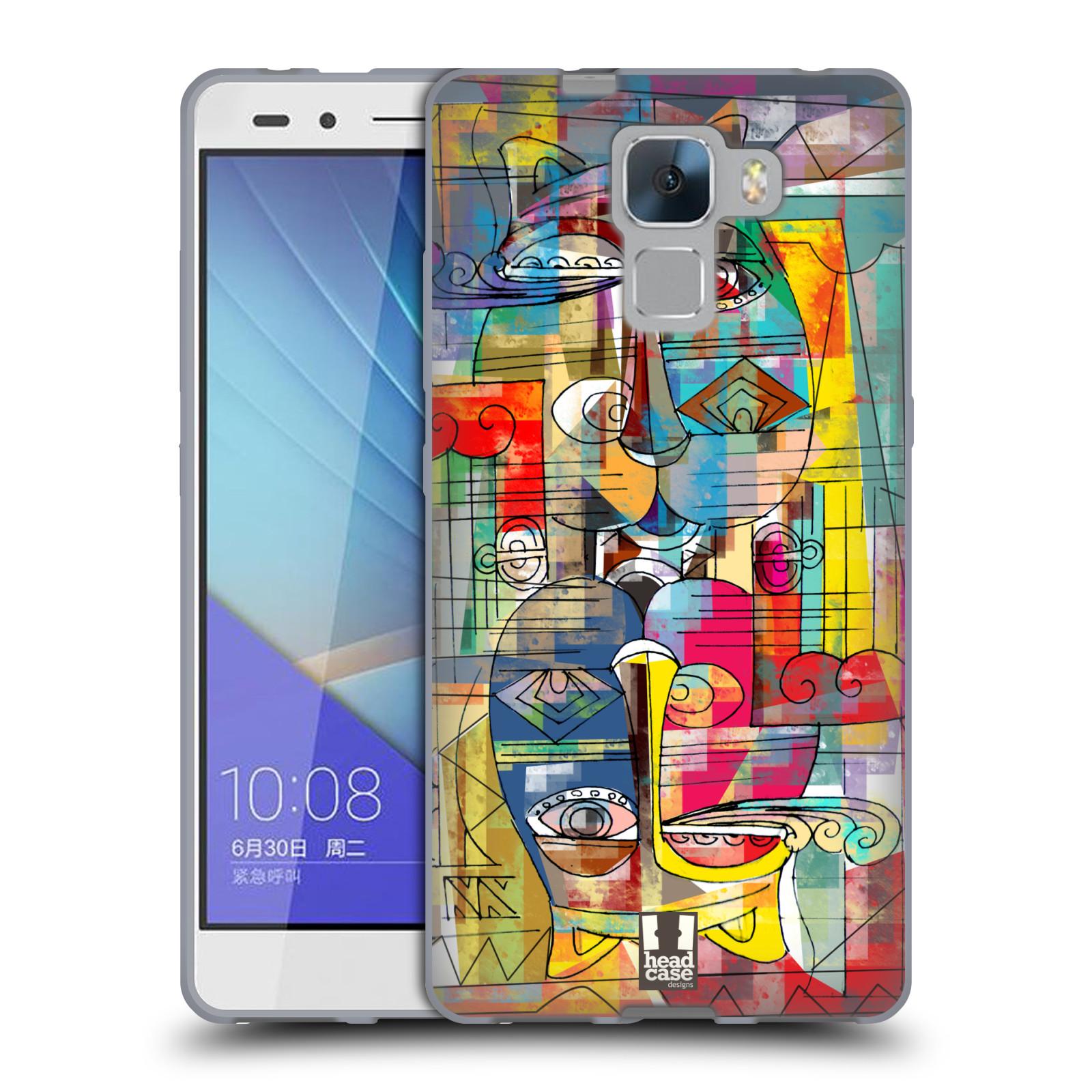 Silikonové pouzdro na mobil Honor 7 HEAD CASE AZTEC MANX