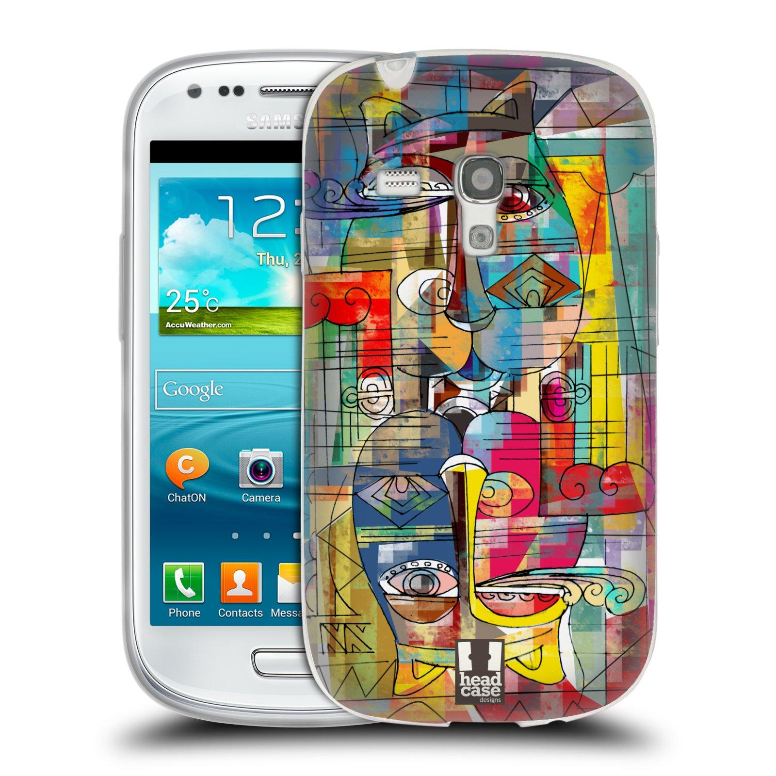 Silikonové pouzdro na mobil Samsung Galaxy S3 Mini VE HEAD CASE AZTEC MANX (Silikonový kryt či obal na mobilní telefon Samsung Galaxy S3 Mini VE GT-i8200)