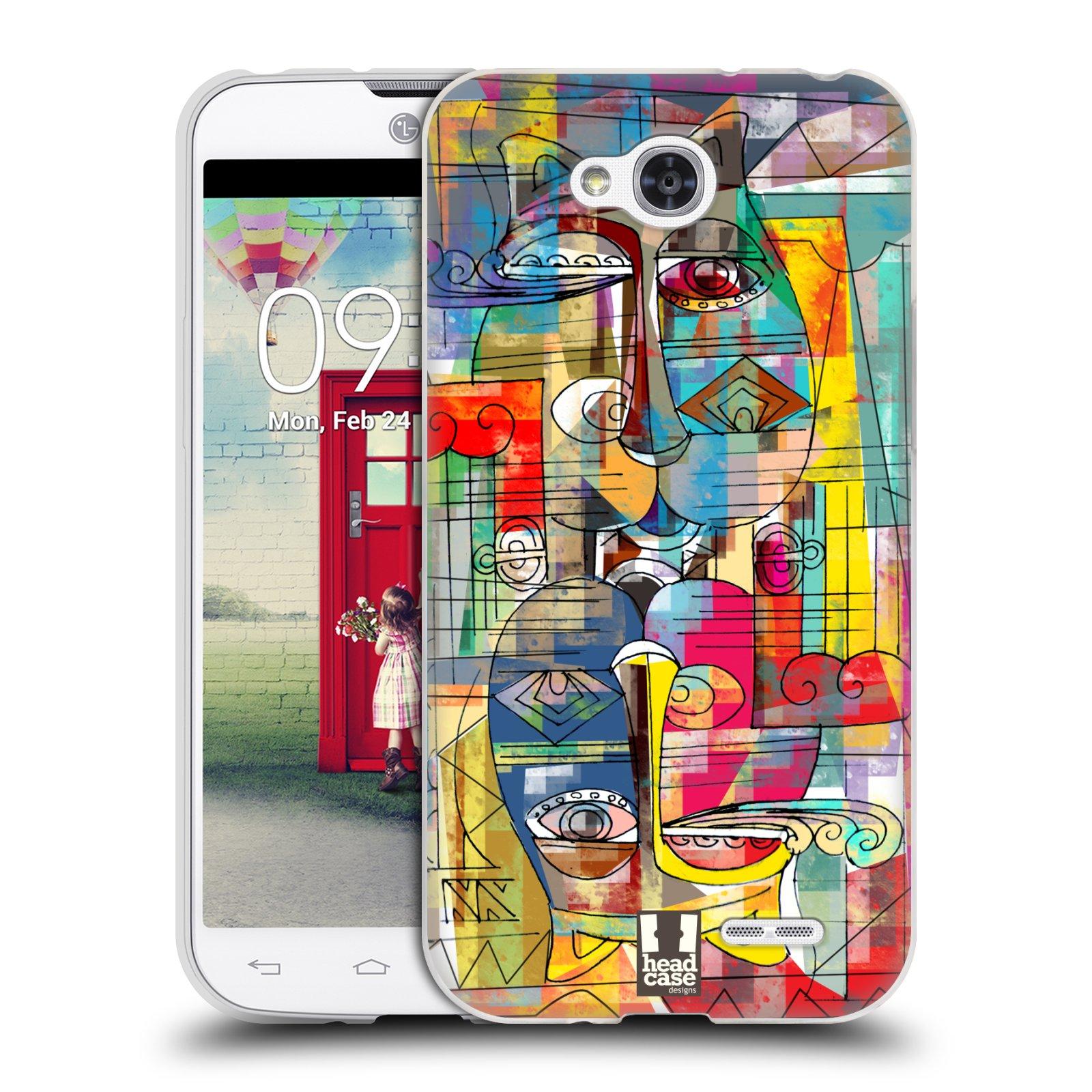 Silikonové pouzdro na mobil LG L90 HEAD CASE AZTEC MANX (Silikonový kryt či obal na mobilní telefon LG L90 D405n)