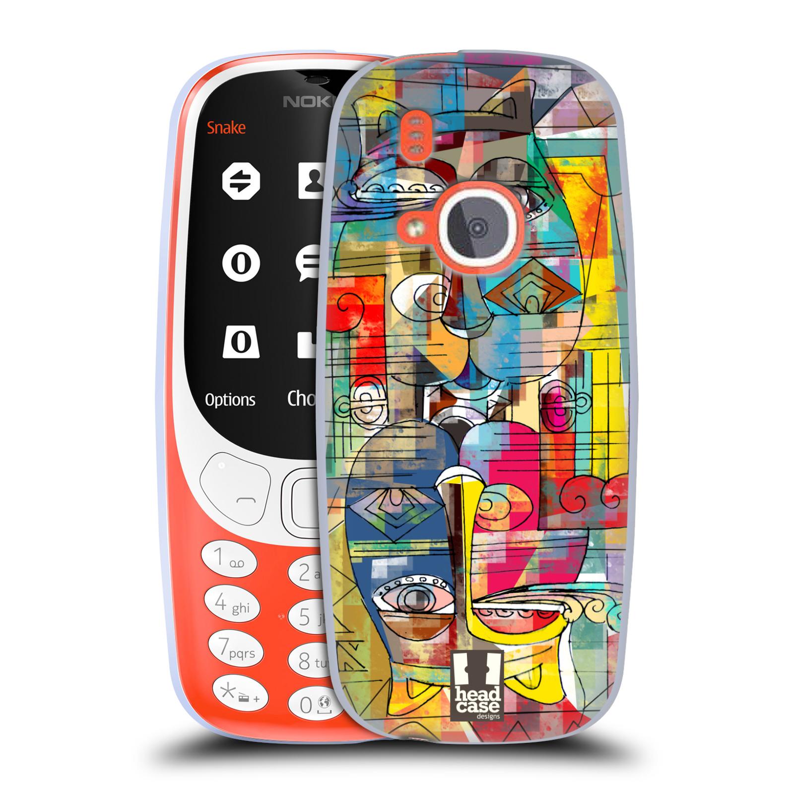 Silikonové pouzdro na mobil Nokia 3310 - Head Case - AZTEC MANX