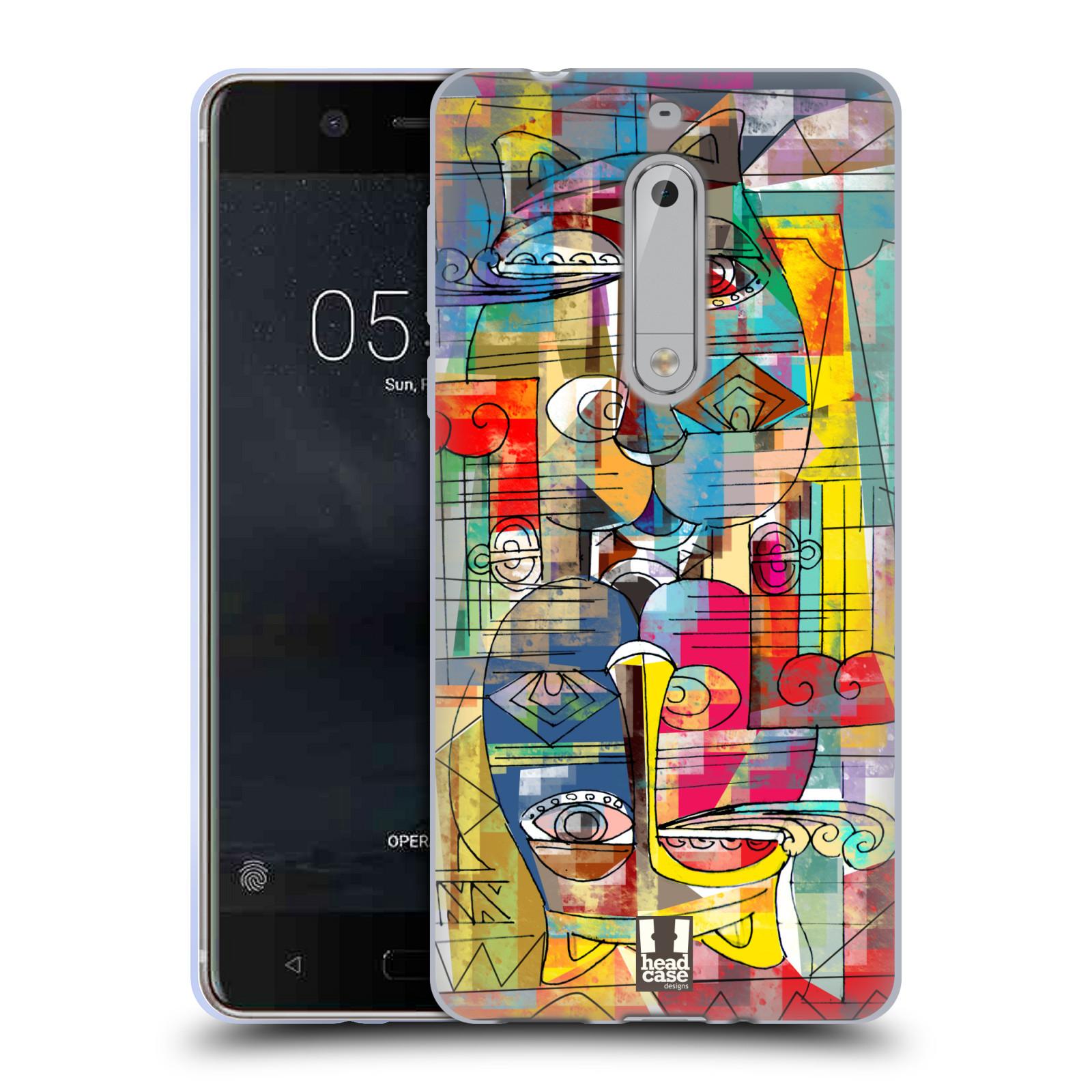 Silikonové pouzdro na mobil Nokia 5 Head Case - AZTEC MANX