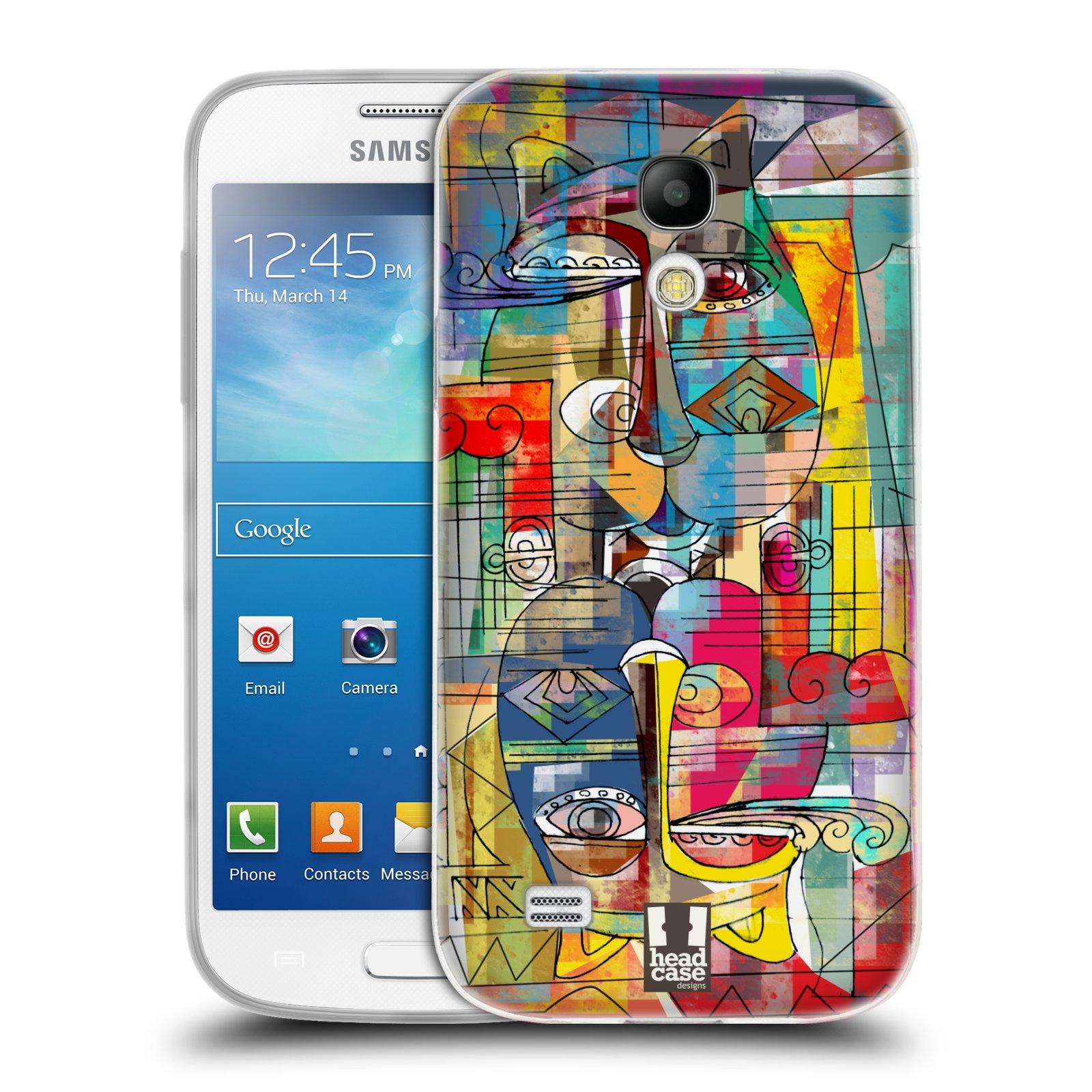 Silikonové pouzdro na mobil Samsung Galaxy S4 Mini HEAD CASE AZTEC MANX