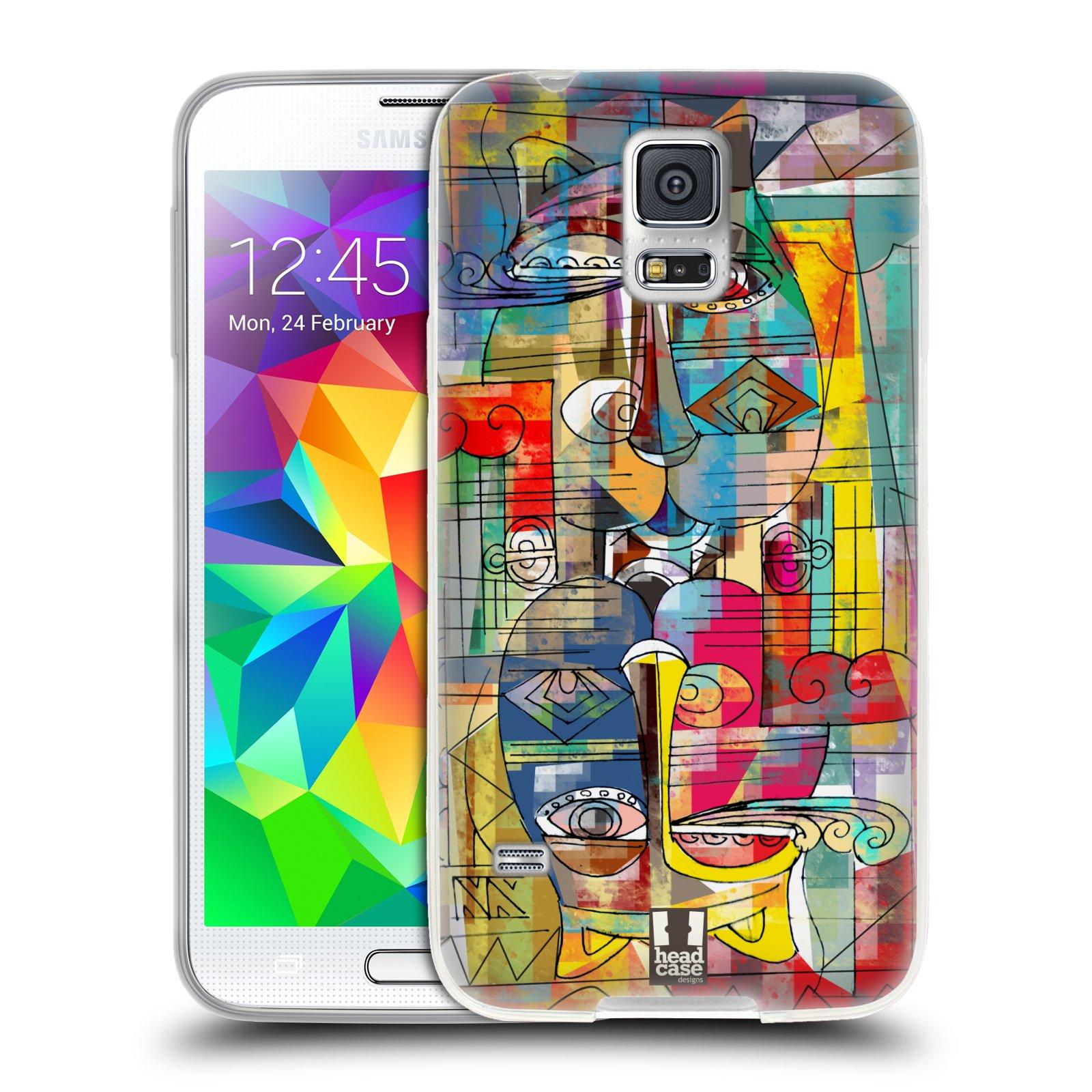 Silikonové pouzdro na mobil Samsung Galaxy S5 HEAD CASE AZTEC MANX
