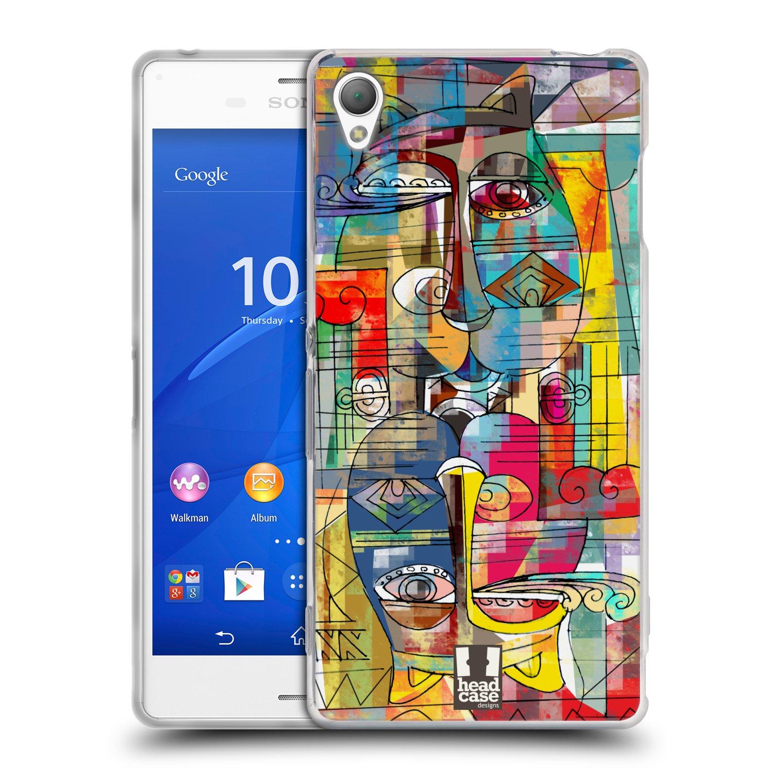 Silikonové pouzdro na mobil Sony Xperia Z3 D6603 HEAD CASE AZTEC MANX
