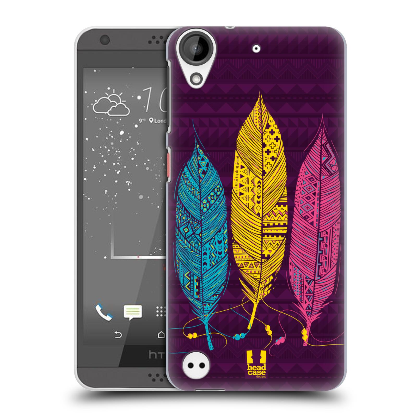Plastové pouzdro na mobil HTC Desire 530 HEAD CASE AZTEC PÍRKA 3 BAREV