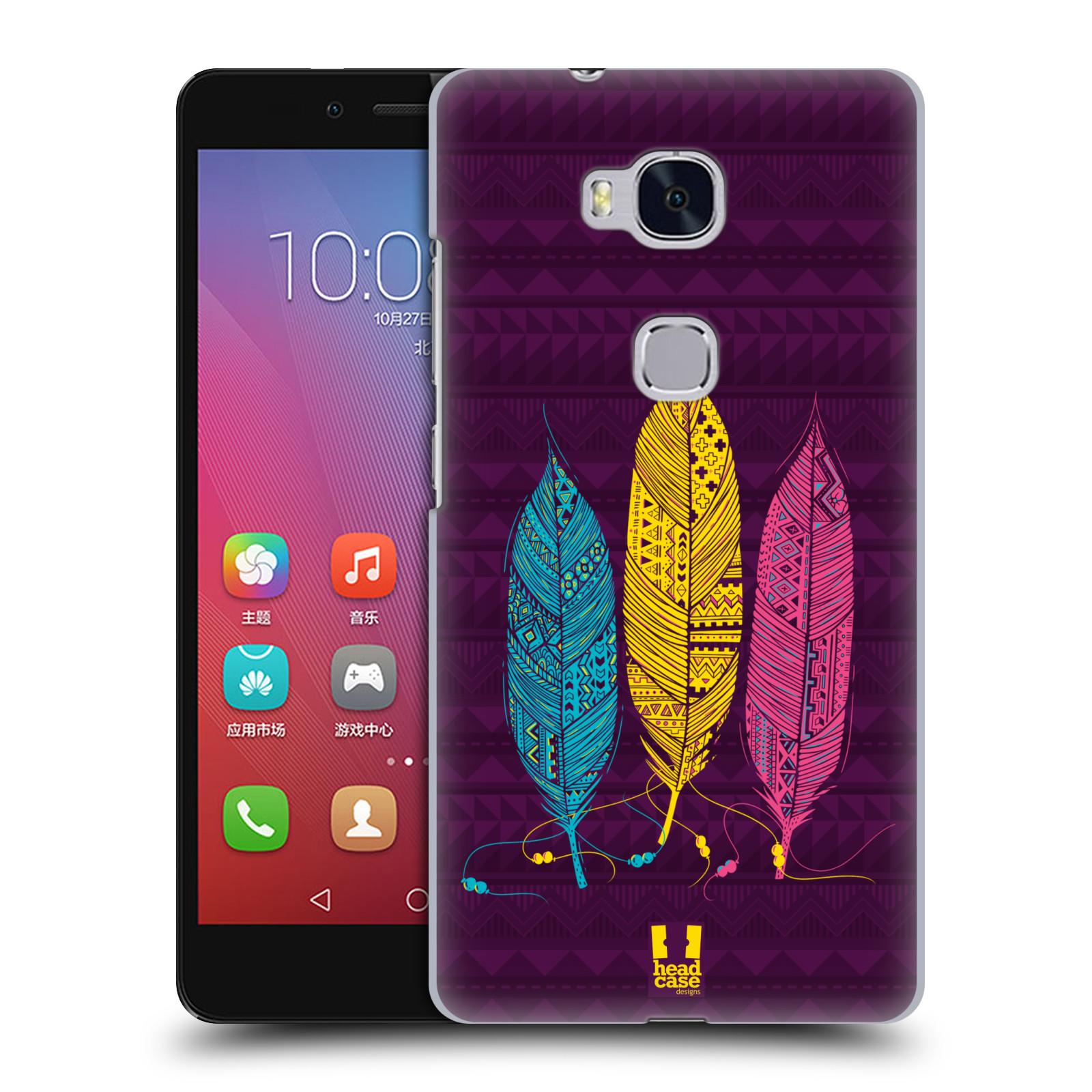 Plastové pouzdro na mobil Honor 5X HEAD CASE AZTEC PÍRKA 3 BAREV (Kryt či obal na mobilní telefon Huawei Honor 5X)