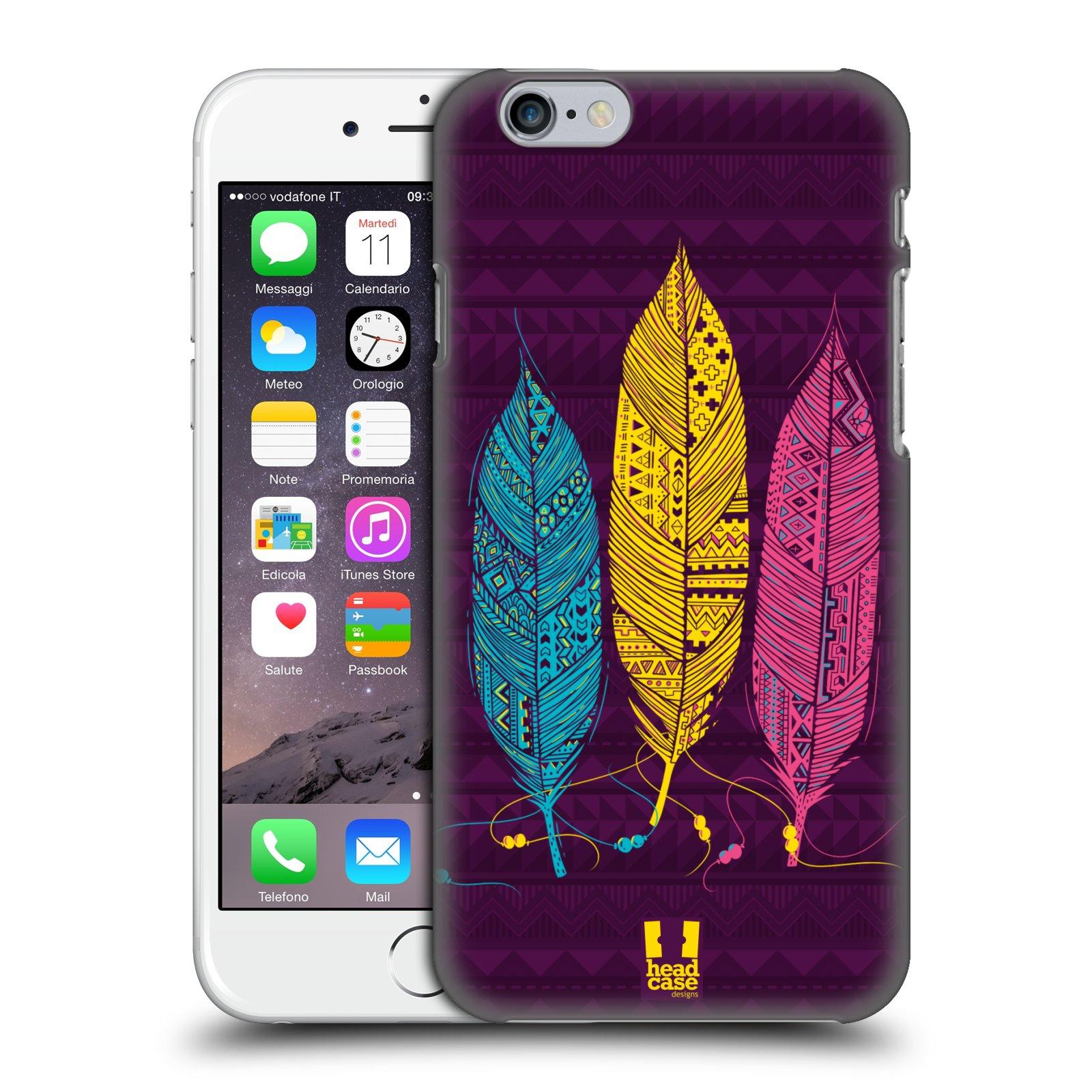 Plastové pouzdro na mobil Apple iPhone 6 a 6S HEAD CASE AZTEC PÍRKA 3 BAREV (Kryt či obal na mobilní telefon Apple iPhone 6 a 6S)